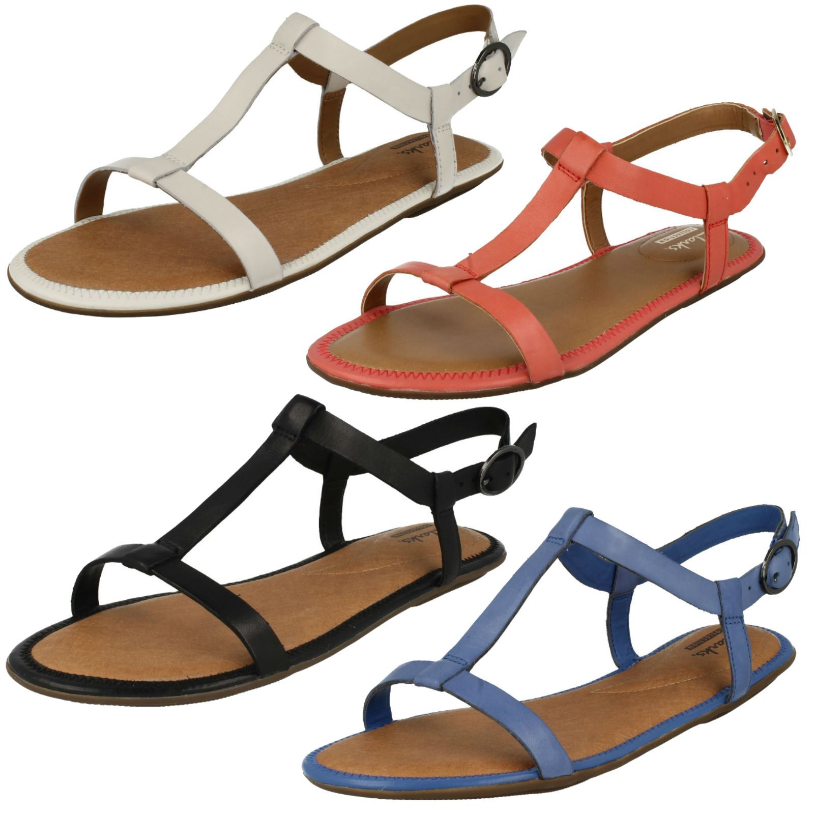 01f5654f4d7e8 Details about Ladies Clarks Risi Hop Strap Sandals