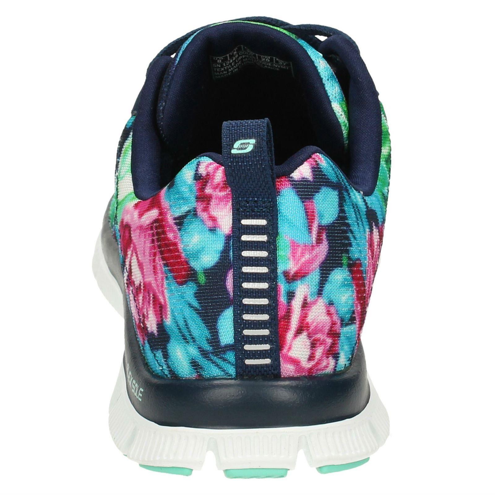 Ladies Skechers Floral Print Trainers *Wildflowers 12448*