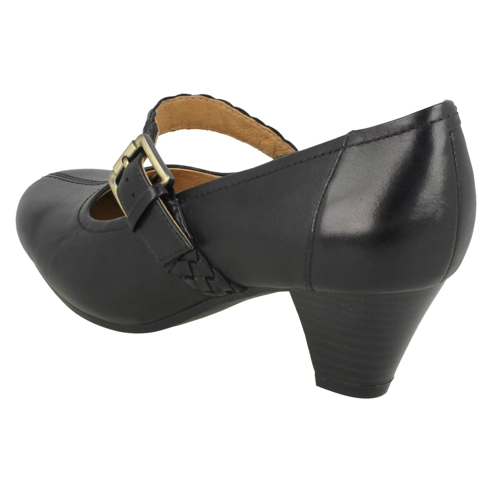 Ladies Dew Clarks Mary Fearne Black Jane Heels Tzgf8nqd