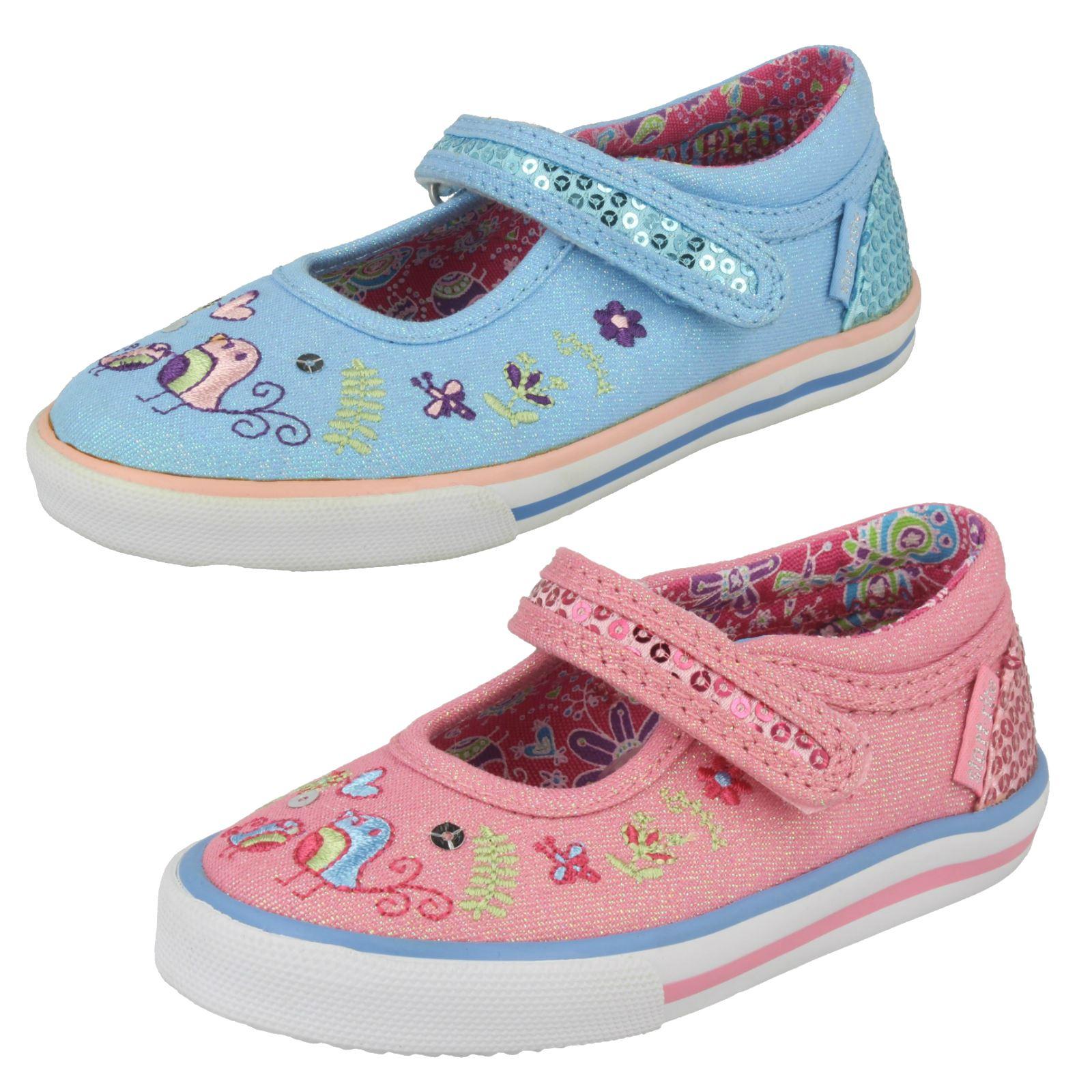 84d88554ed850 Pour bébés filles Startrite Mary Jane Riptape Glitter Sparkle toile pompes  Paradise
