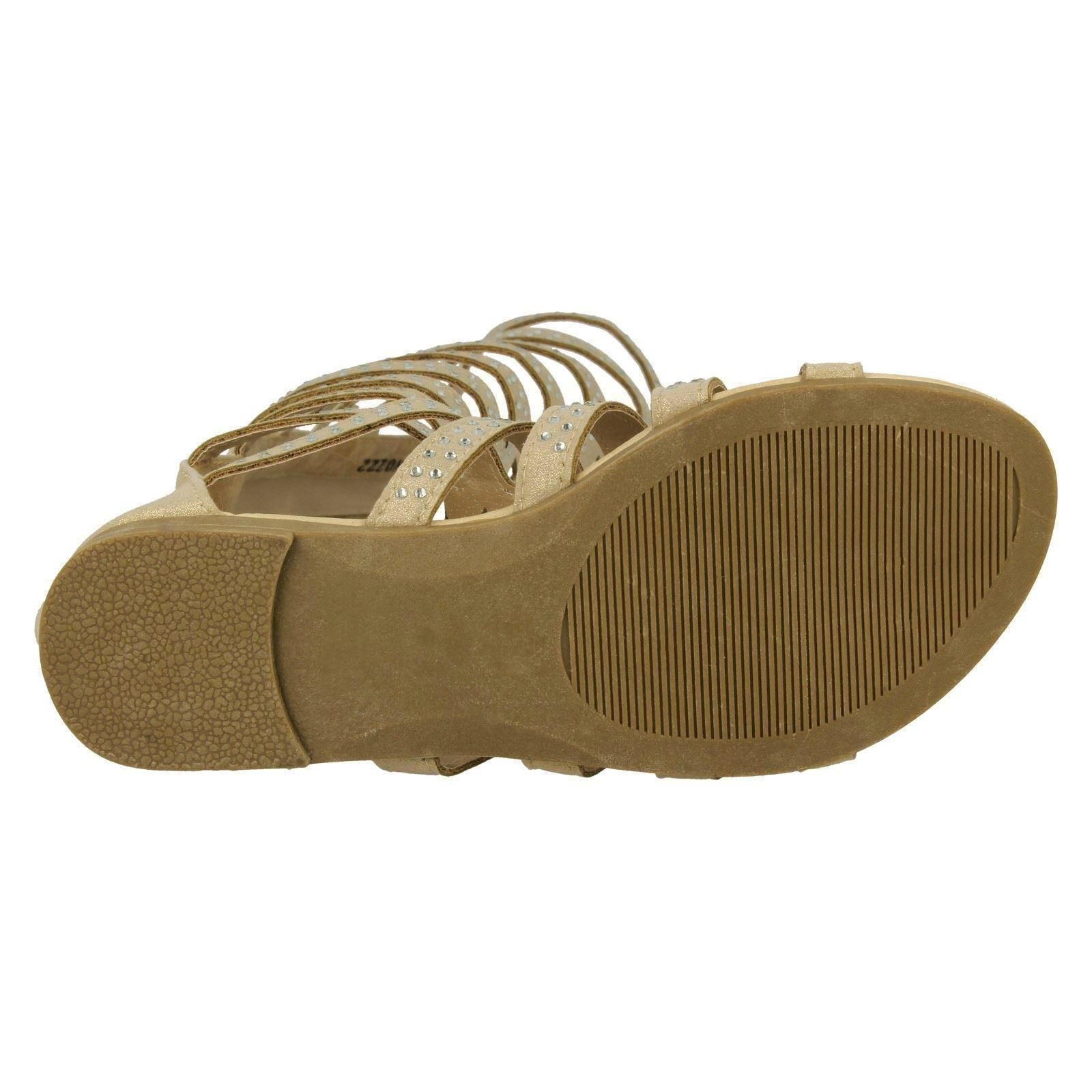 Girls Spot On Knee High Gladiator Sandals,