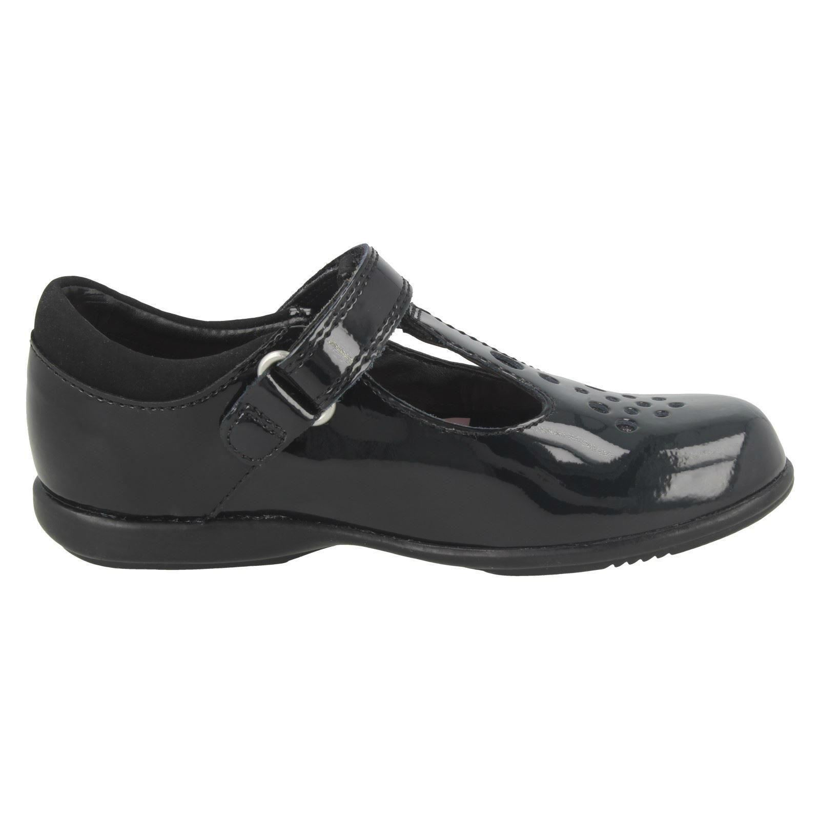 Chicas Clarks Zapatos Escolares con luces intermitentes Trixi PIP