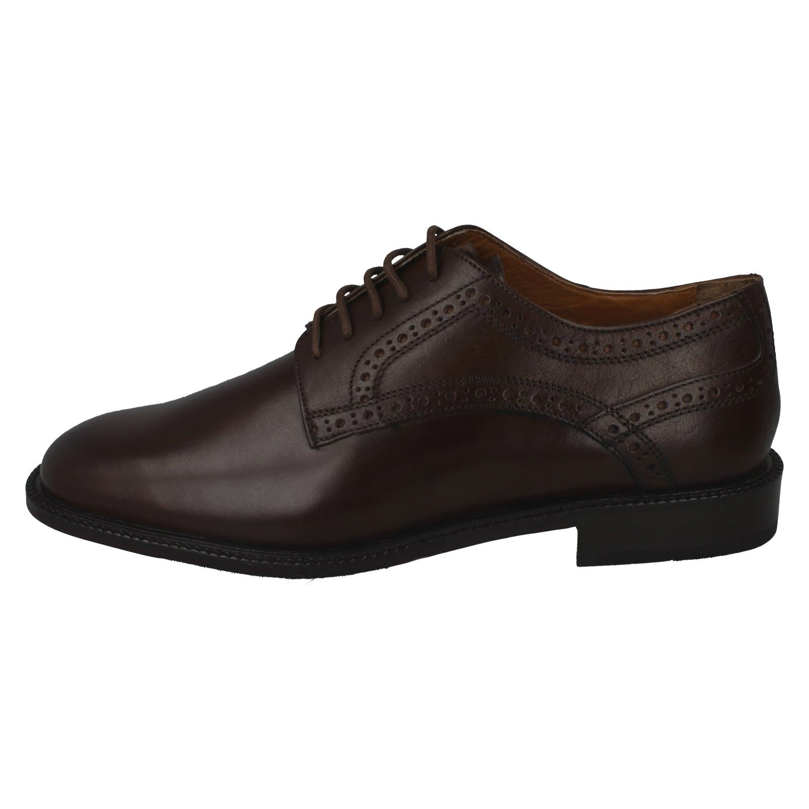 lacets City cuir Mens Chaussures Steps en Torino Brown a4dqdwT