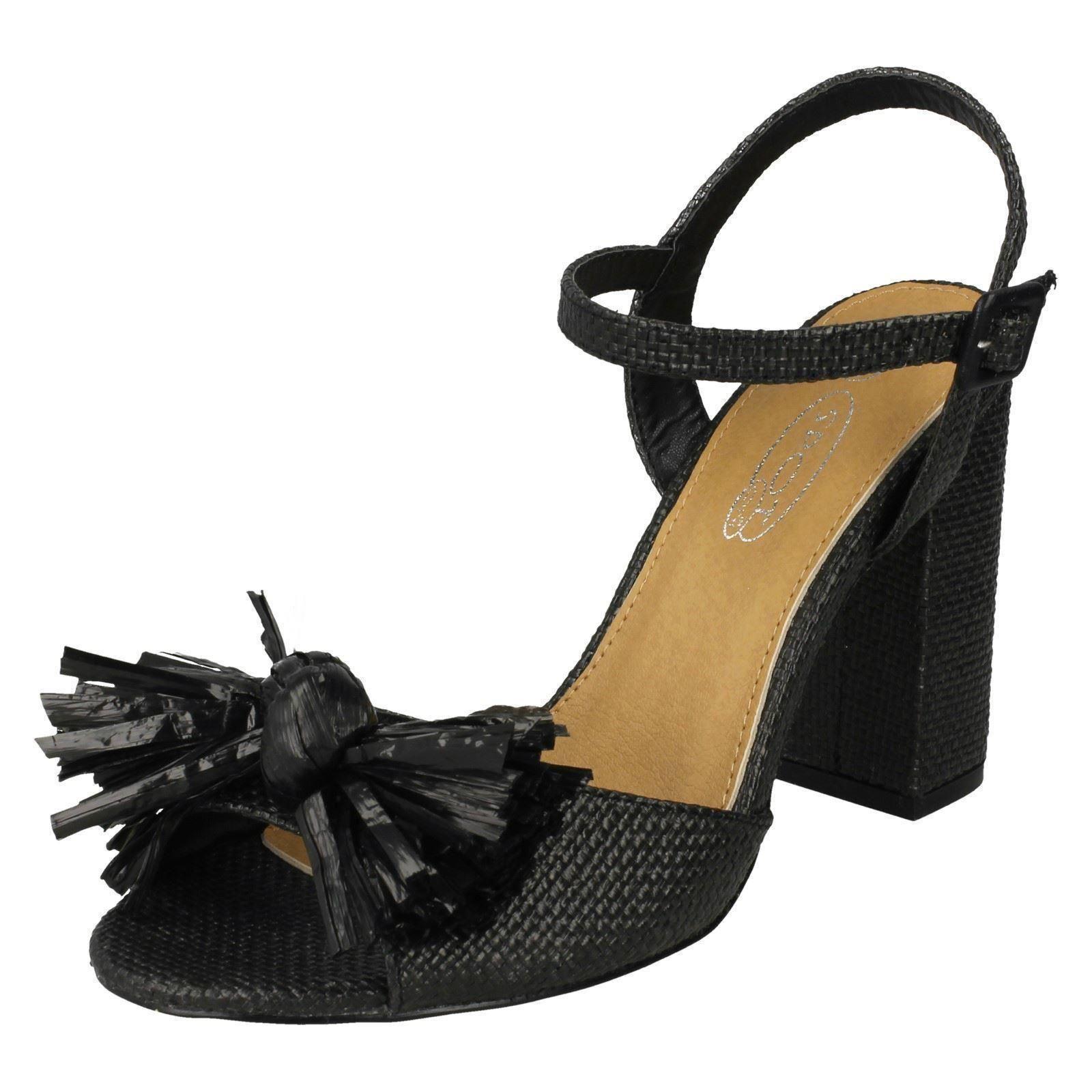 Vamp Con Tacco Donna Multicolore Estate Sandalo Alla Caviglia Misura UK 6 EU 39 USATO