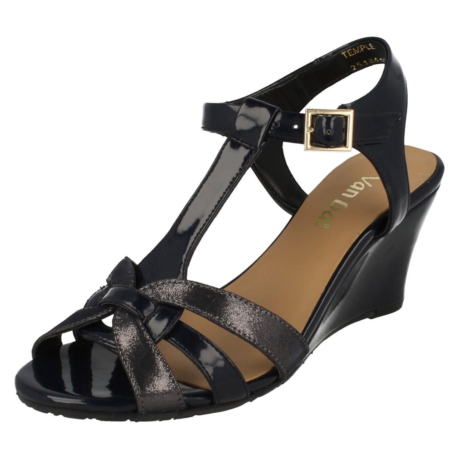 Ladies Van Dal T-Bar Wedge Sandals Temple