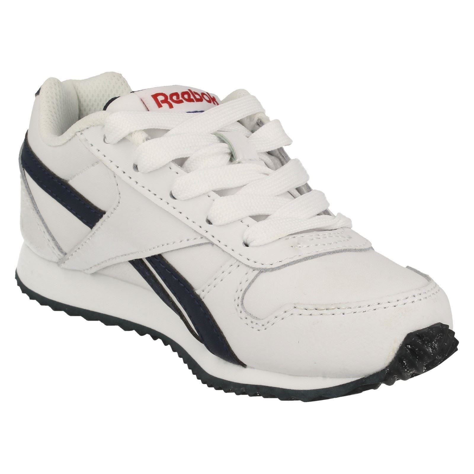 Boys Reebok Lace Up Classic Leather Trainers - Royal Cl Jogger