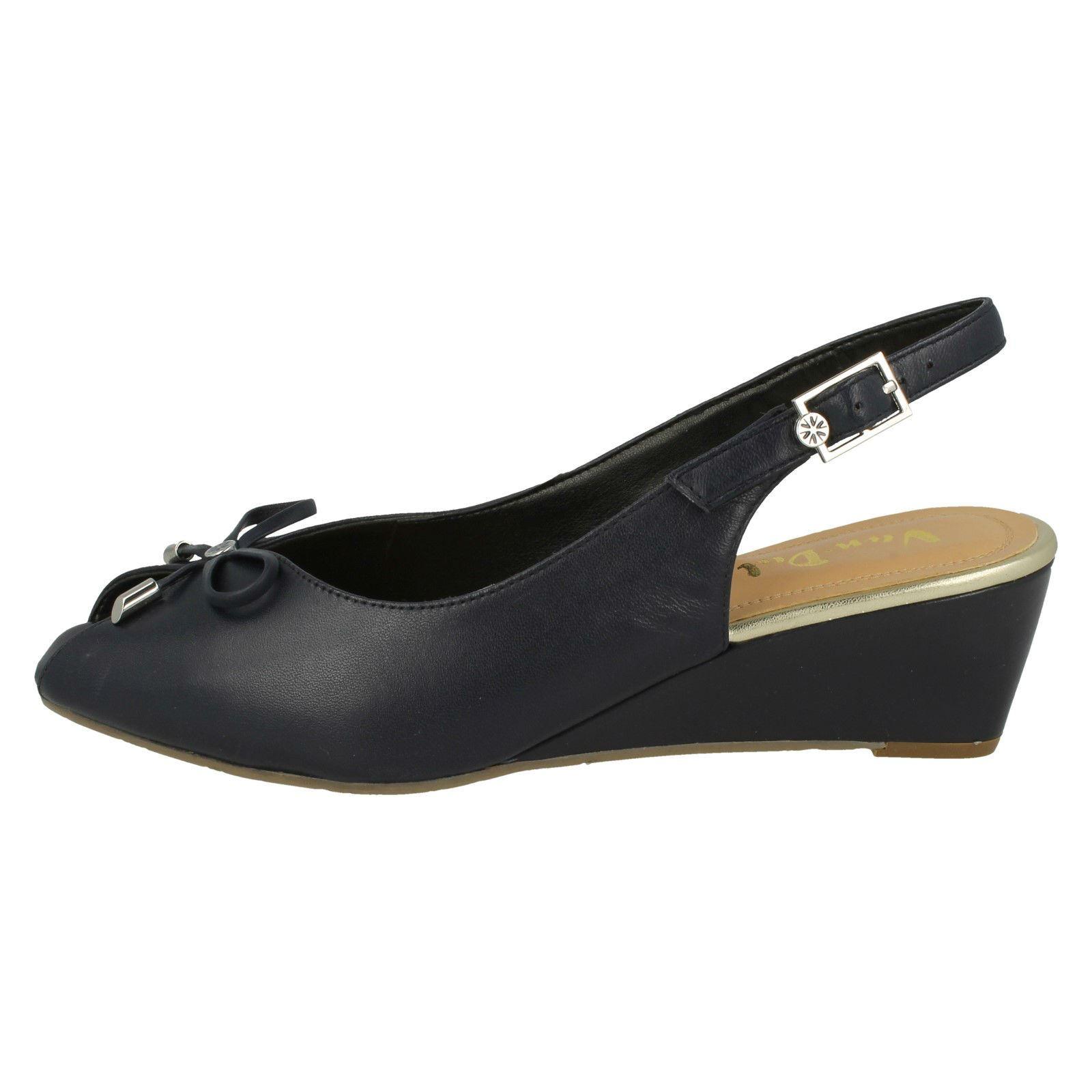 Ladies Van Dal Sling Back Wedge Open Toe Sandals 'Oxley'
