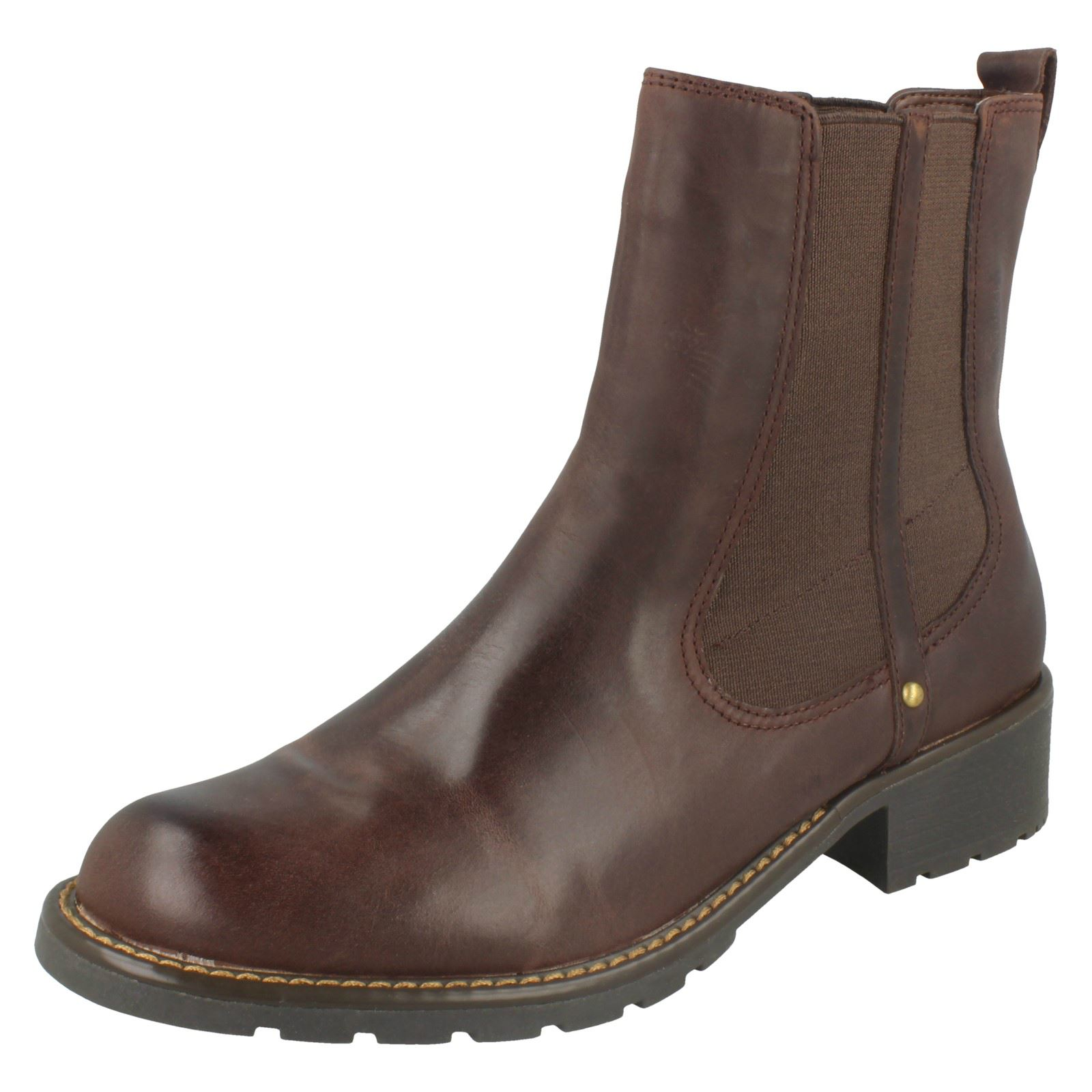 Ladies Clarks Chelsea Pull on BOOTS Orinoco Club 6.5 UK Burgundy D ... b2a0bba9c686