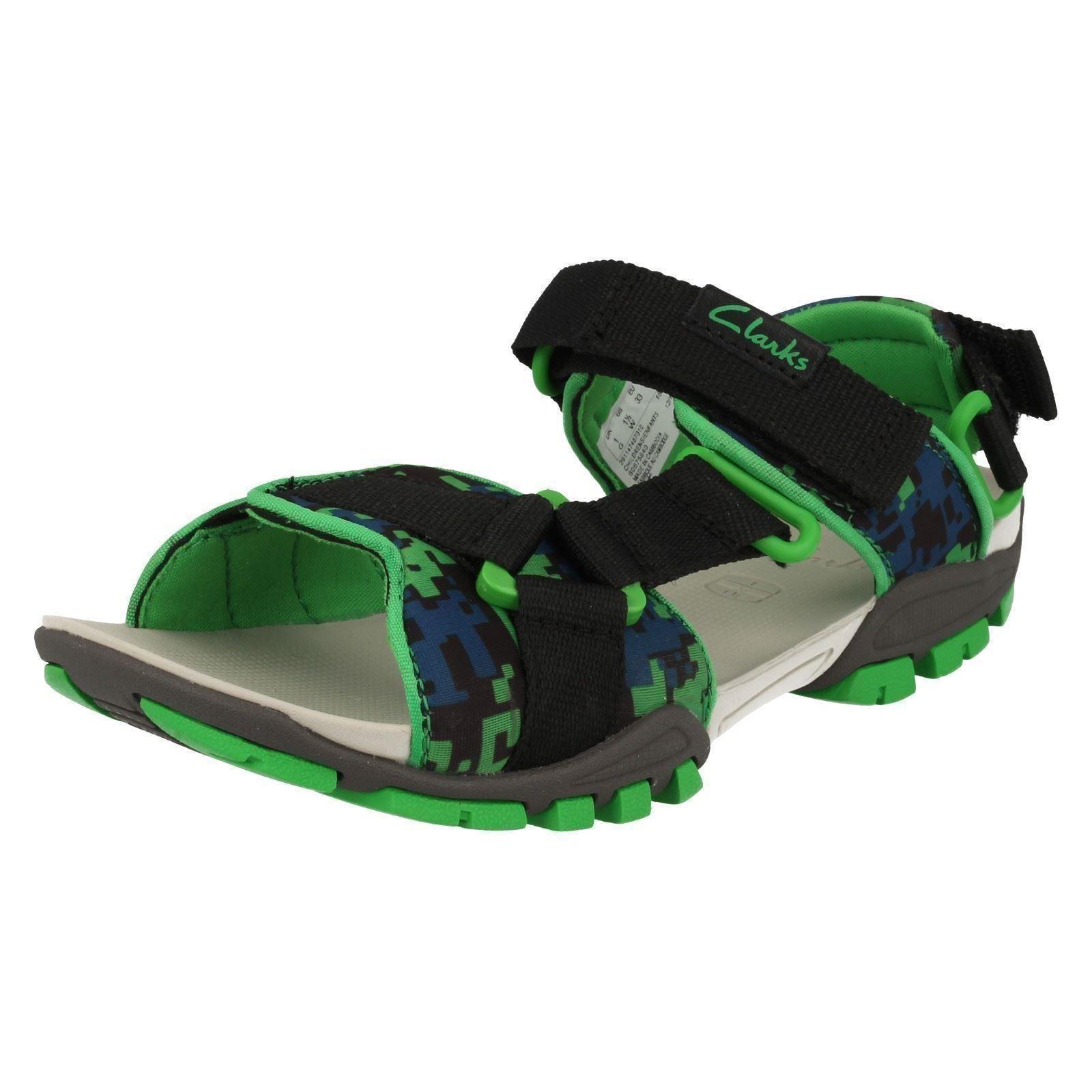 Boys Clarks Open Toe Waterfriendly Sandals ZALMO Lad 10 UK Black ... 51eb2a37289d