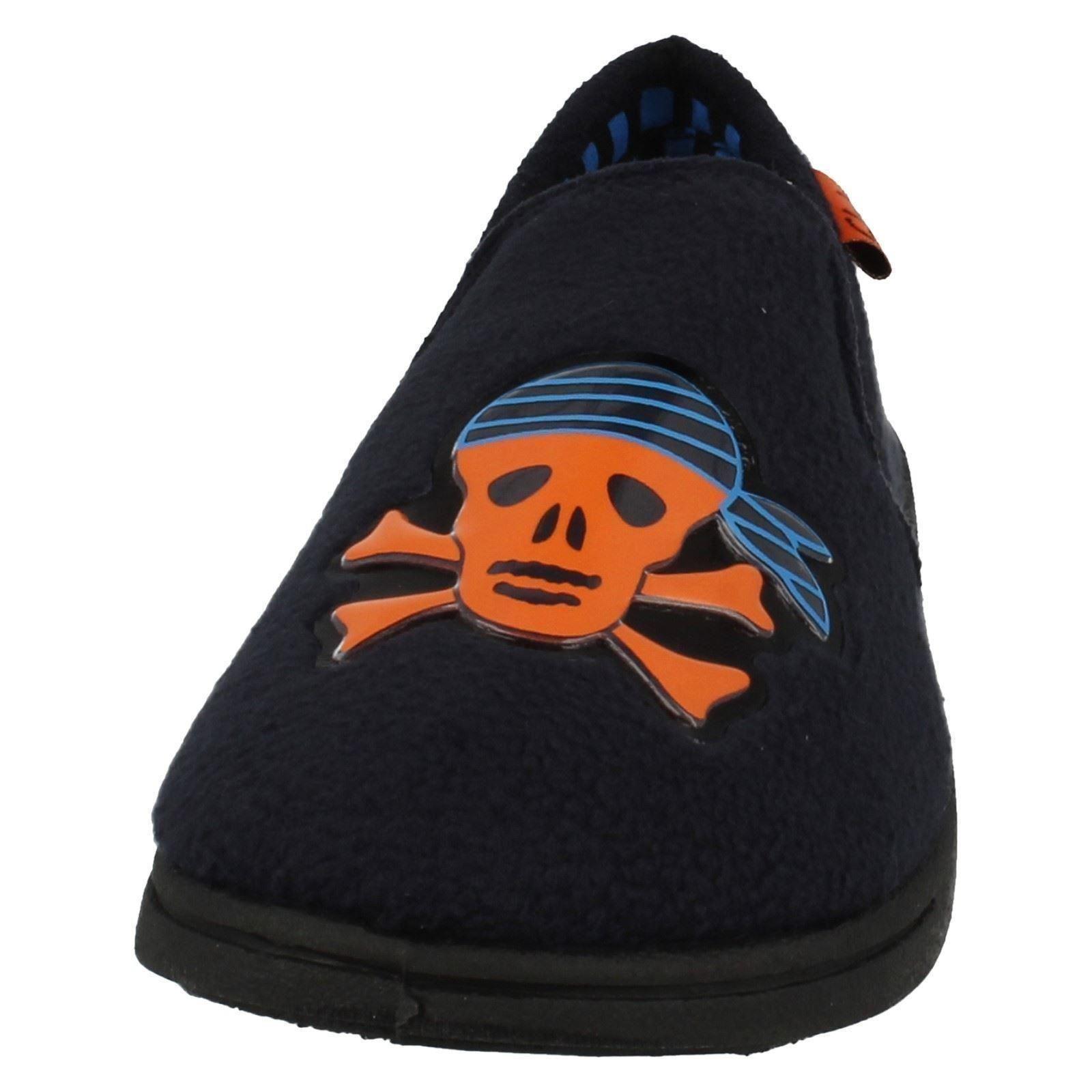 Boys Clarks Slip On Pirate Themed Slippers Movello Oz