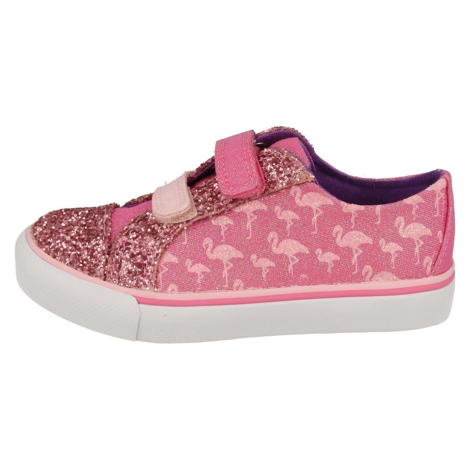 Girls Clarks Casual Canvas Shoes Brill Race