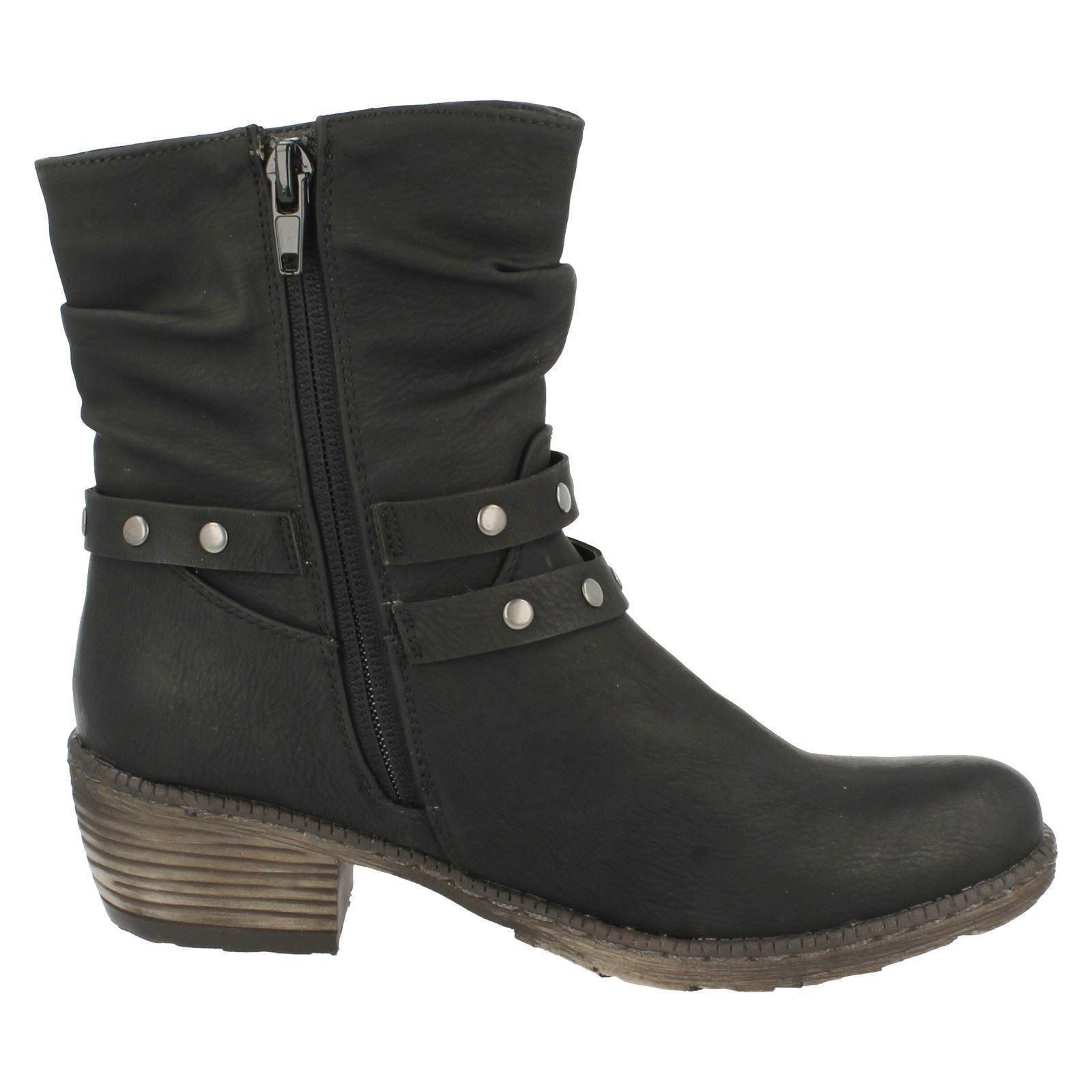 rieker fleece lined ankle boots k1491 ebay