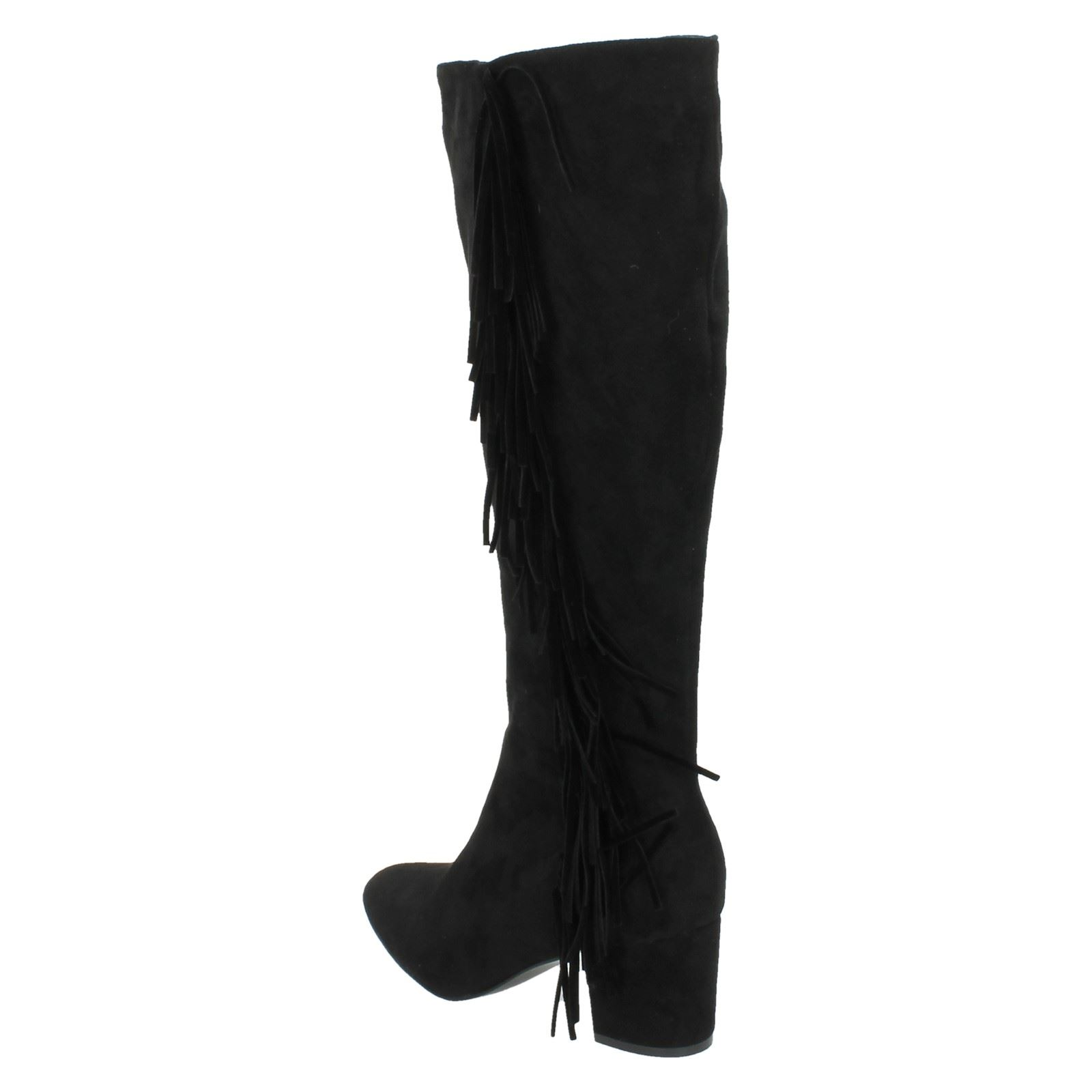 On Boots Spot Tasseled Ladies Casual Black BwwdqP