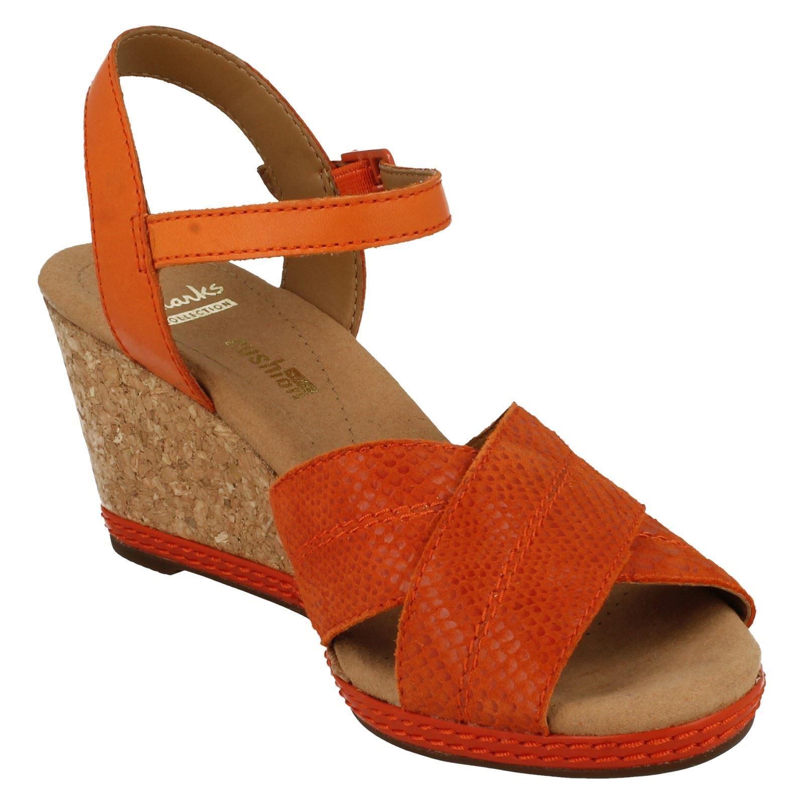 Ladies Clarks Open Toe Wedge Sandals /'Helio Latitude/'