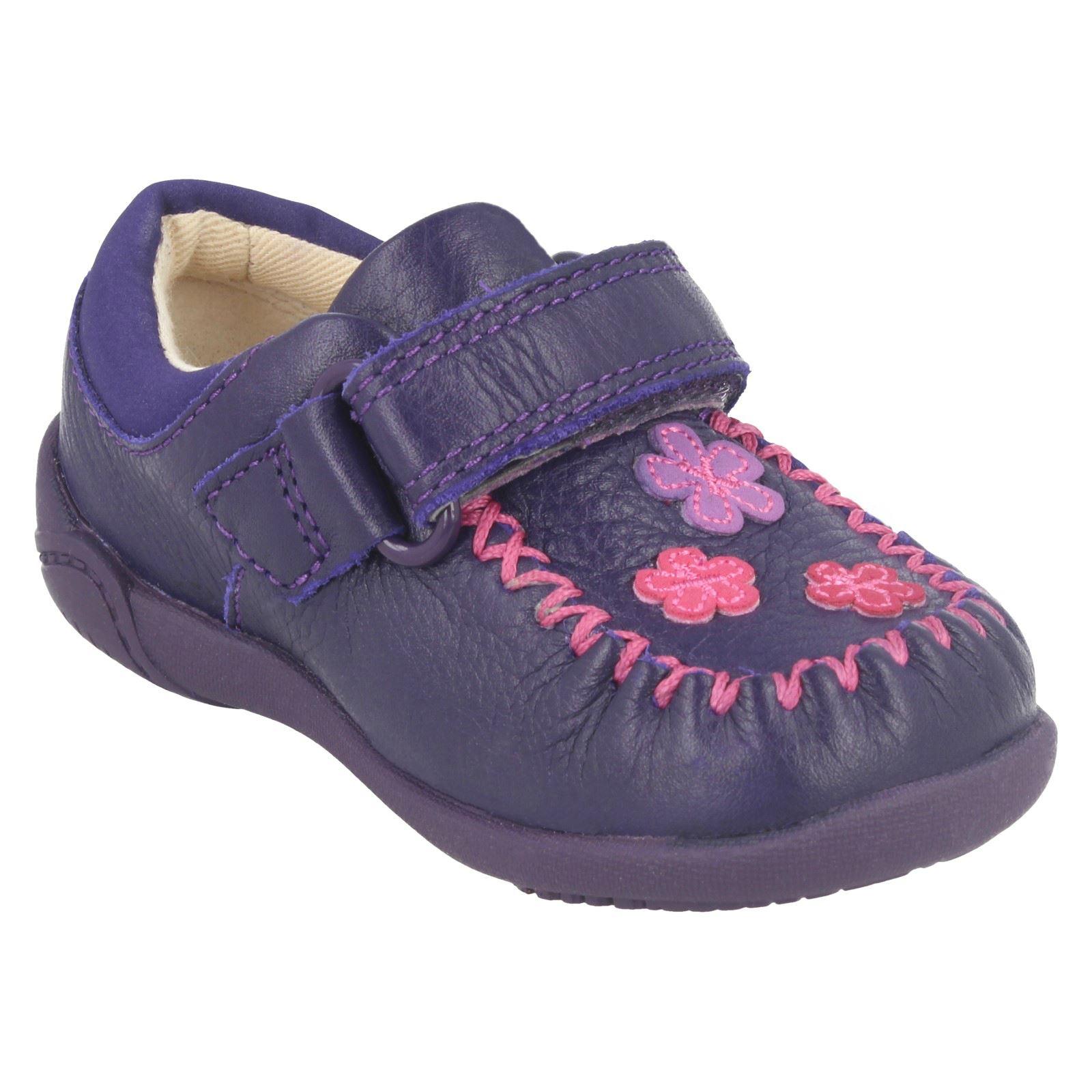 Litzy Niñas Casual Clarks Shoes Purple Evie 400Z7wqW