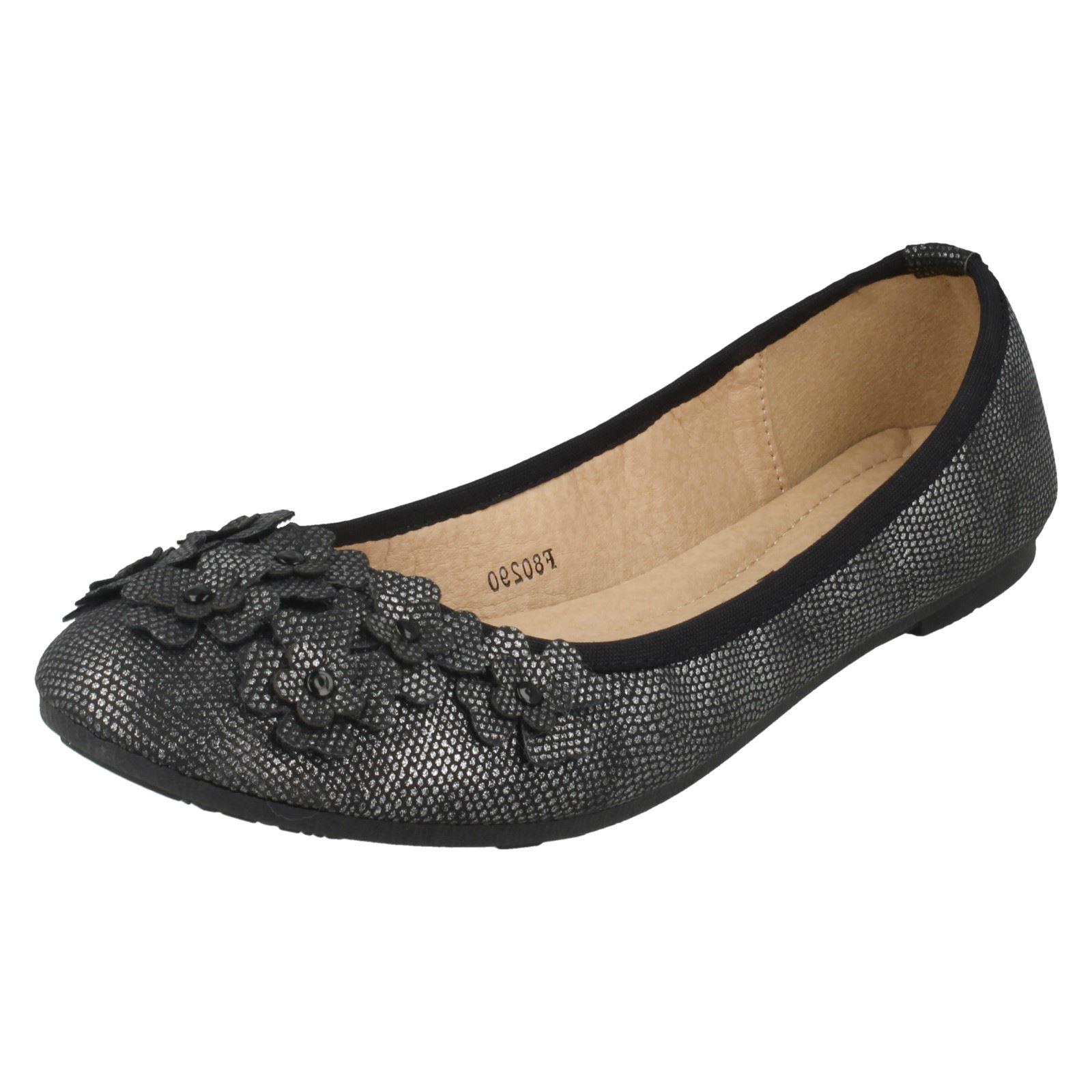 Damas Spot On Sintético Slip on Bailarina Zapatos