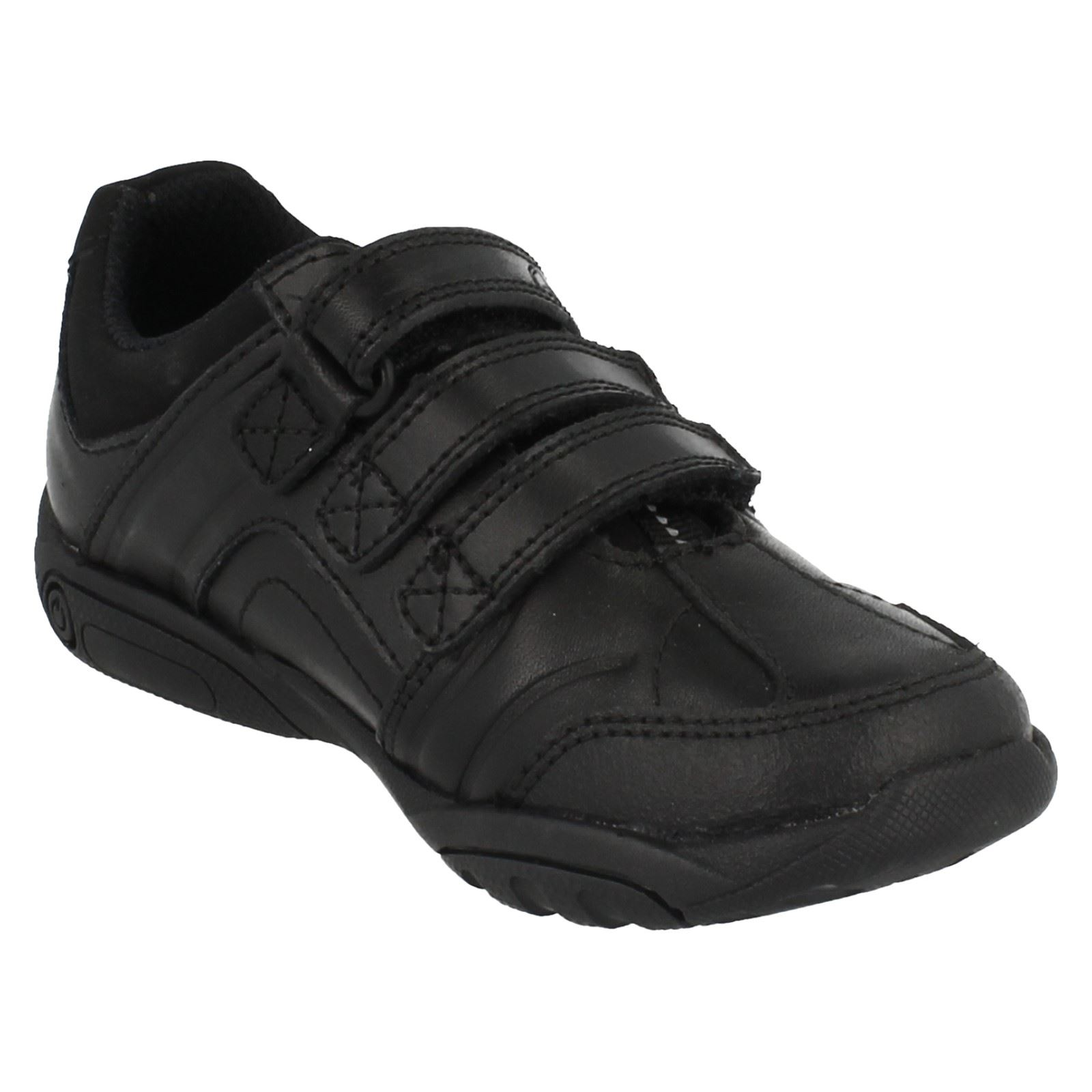 Clarks Boys School Shoes - Nano Diffuse