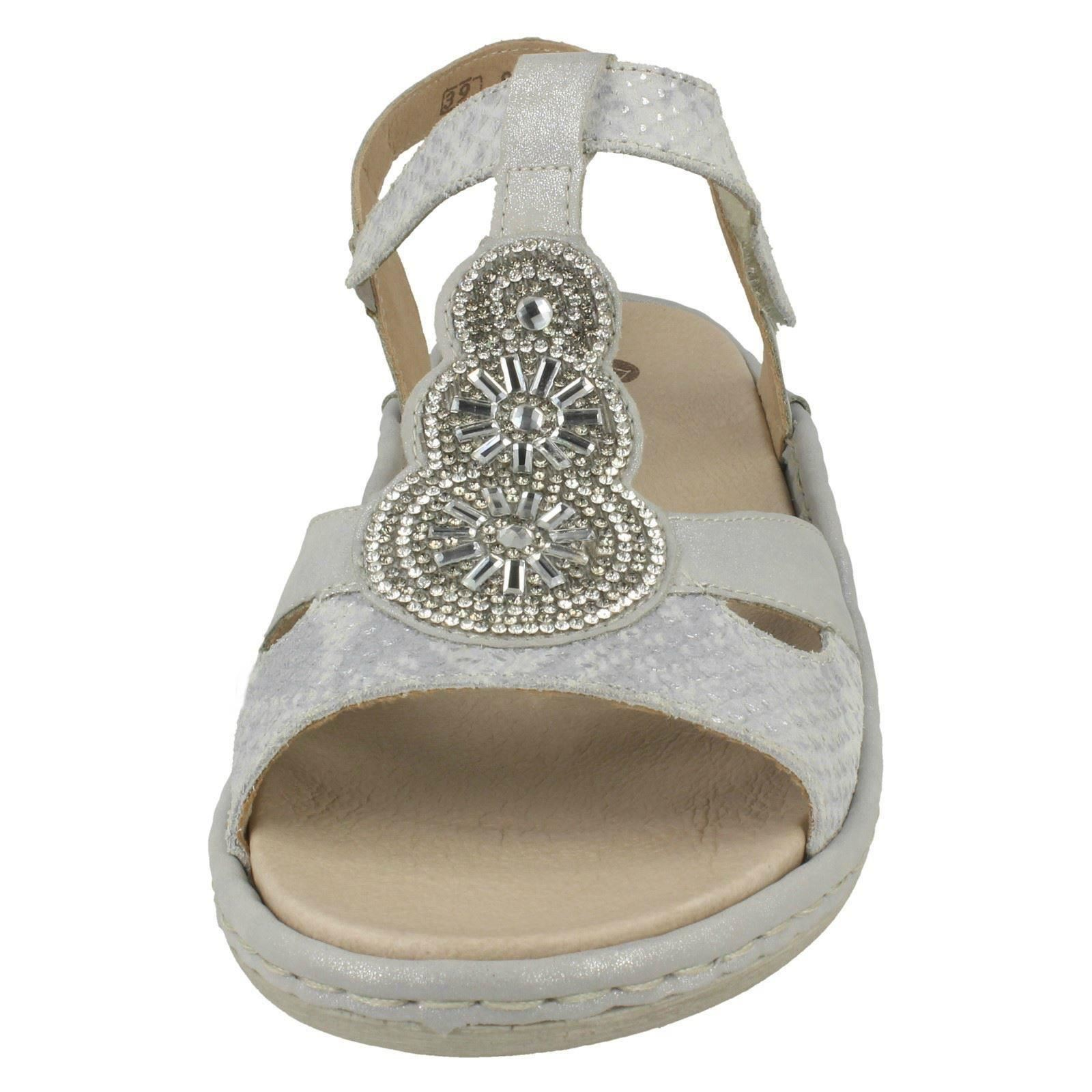 Slingback argento platino Argento D7645 Womens Sandals Remonte YXnBx5