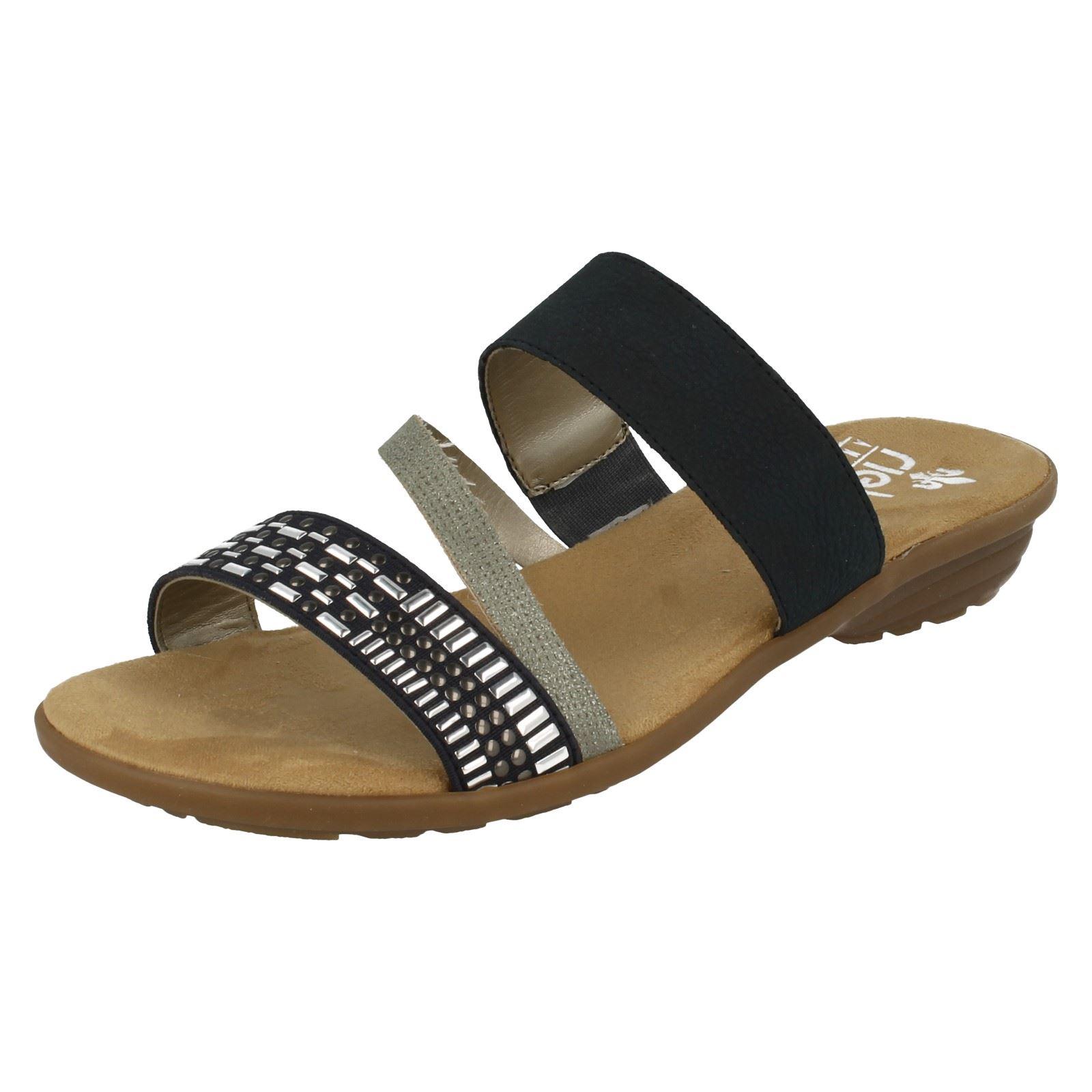 Damas Damas Damas Rieker Sandalias Planas De Moda-V3454  Felices compras
