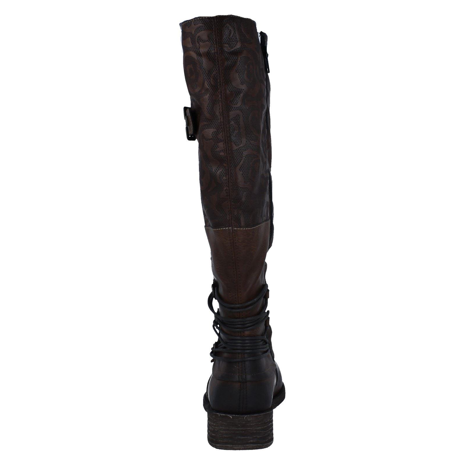 Ladies Remonte Knee Length Boots 'D8078' Brown