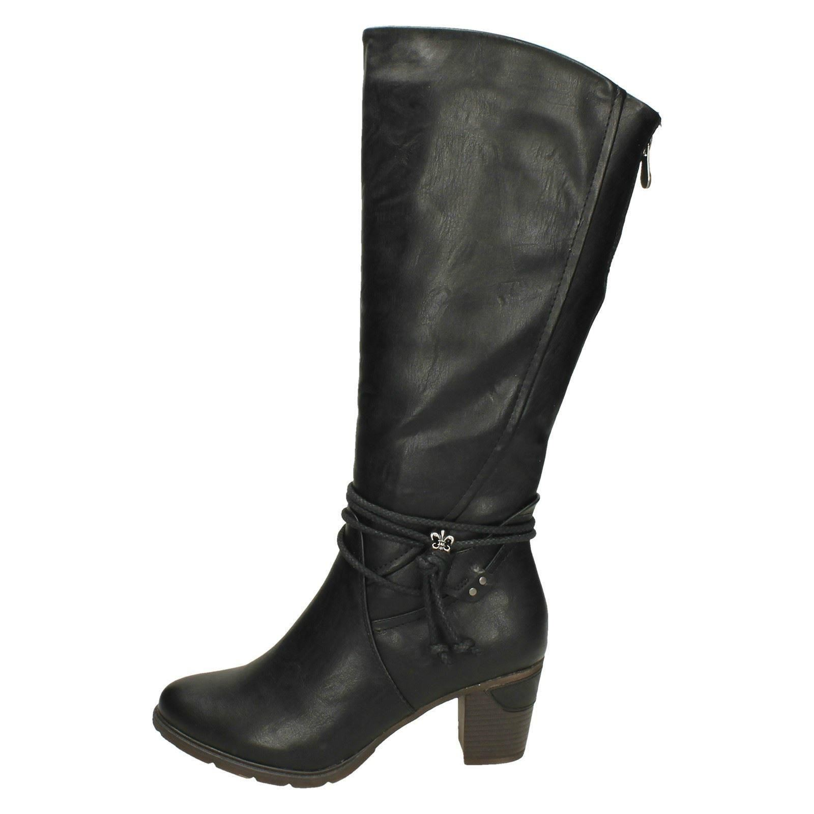 quality elegant and sturdy package fine quality Details about Womens Rieker Knee High Boots 96059