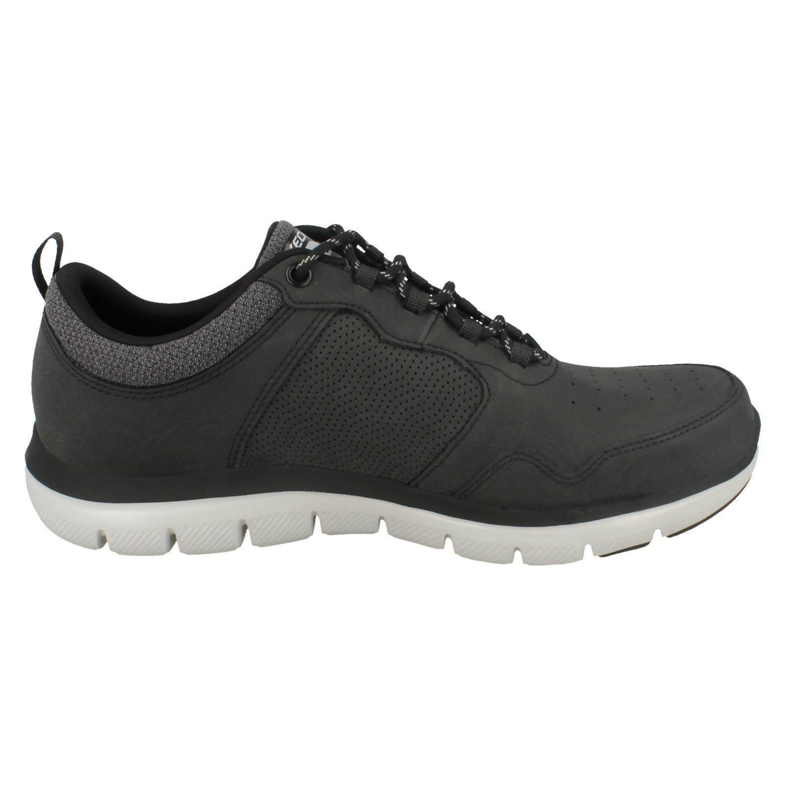 Uomo Skechers Lace Up Flex 52124 Advantage Leder Trainers Dali 52124 Flex 890ac2