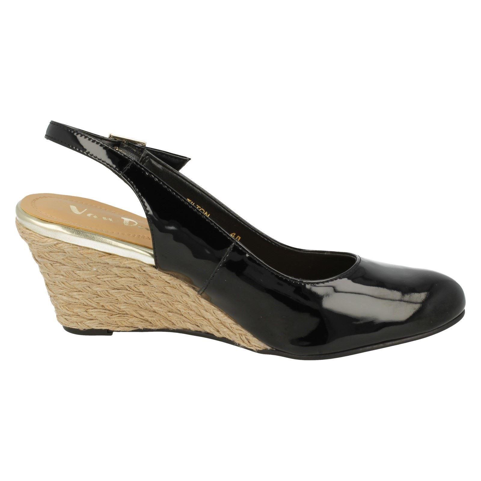 Zapatos señoras señoras señoras van dal Charol Cuña Tilton ede0f1