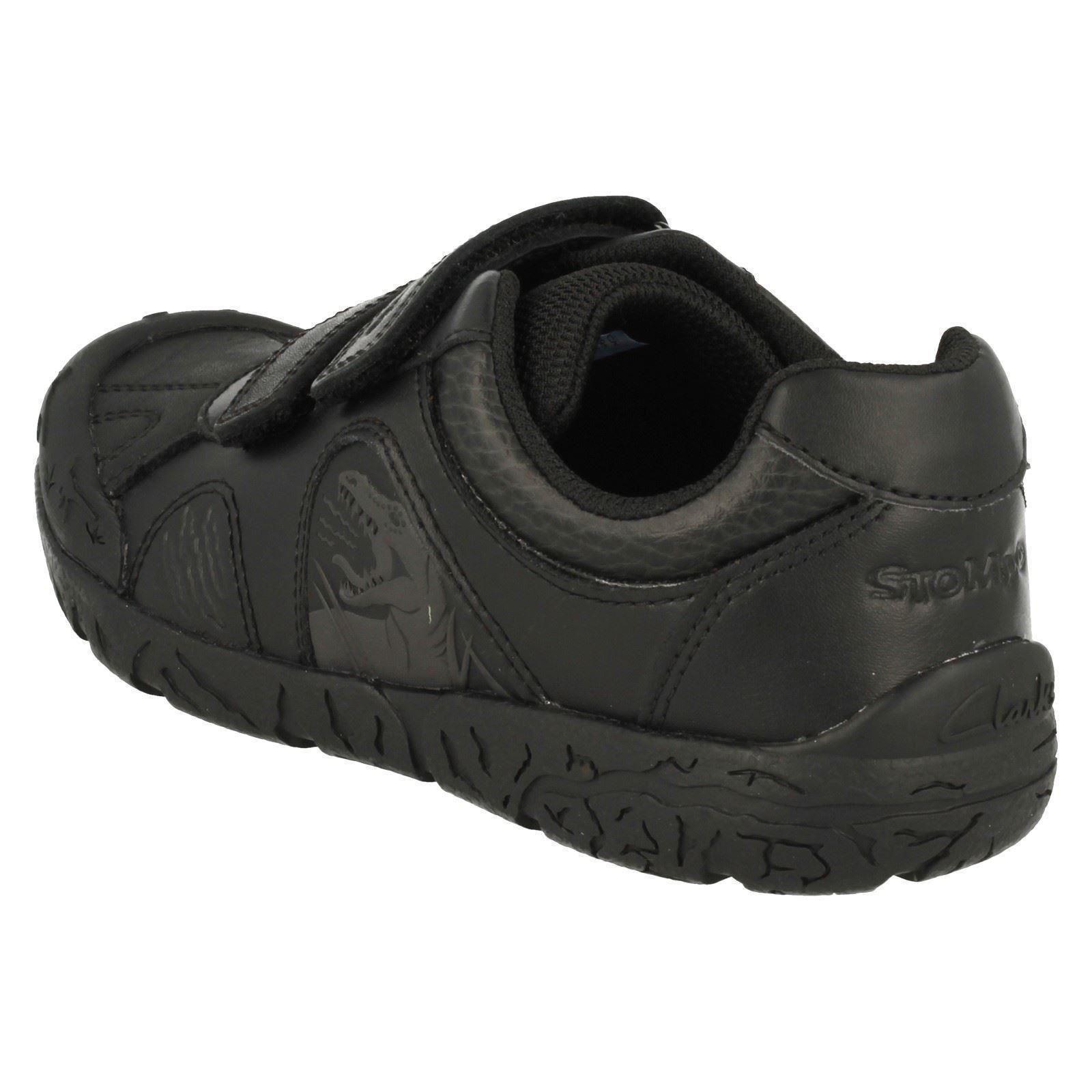 Boys Clarks Bronto Step Dinosaur School Shoes
