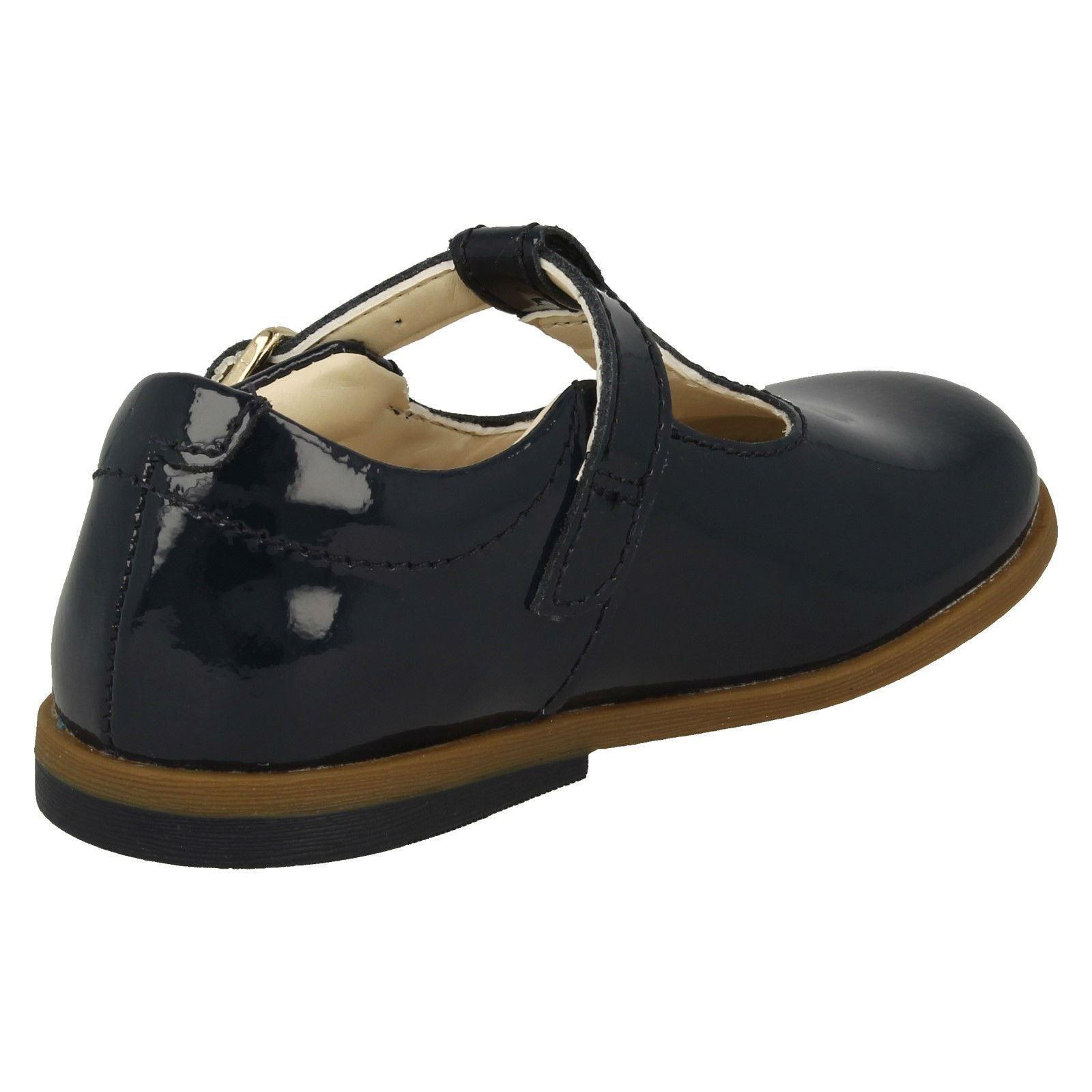 """Clarks Filles T-Bar École Chaussures /""""Drew briller/"""""""