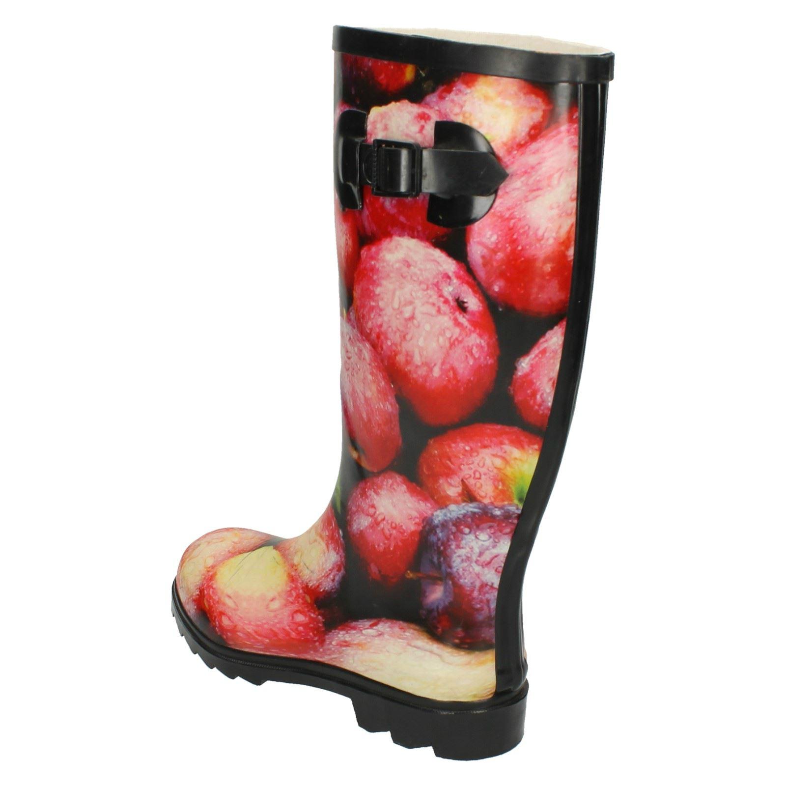 Ladies Spot On Apple Print *Wellington Boot*