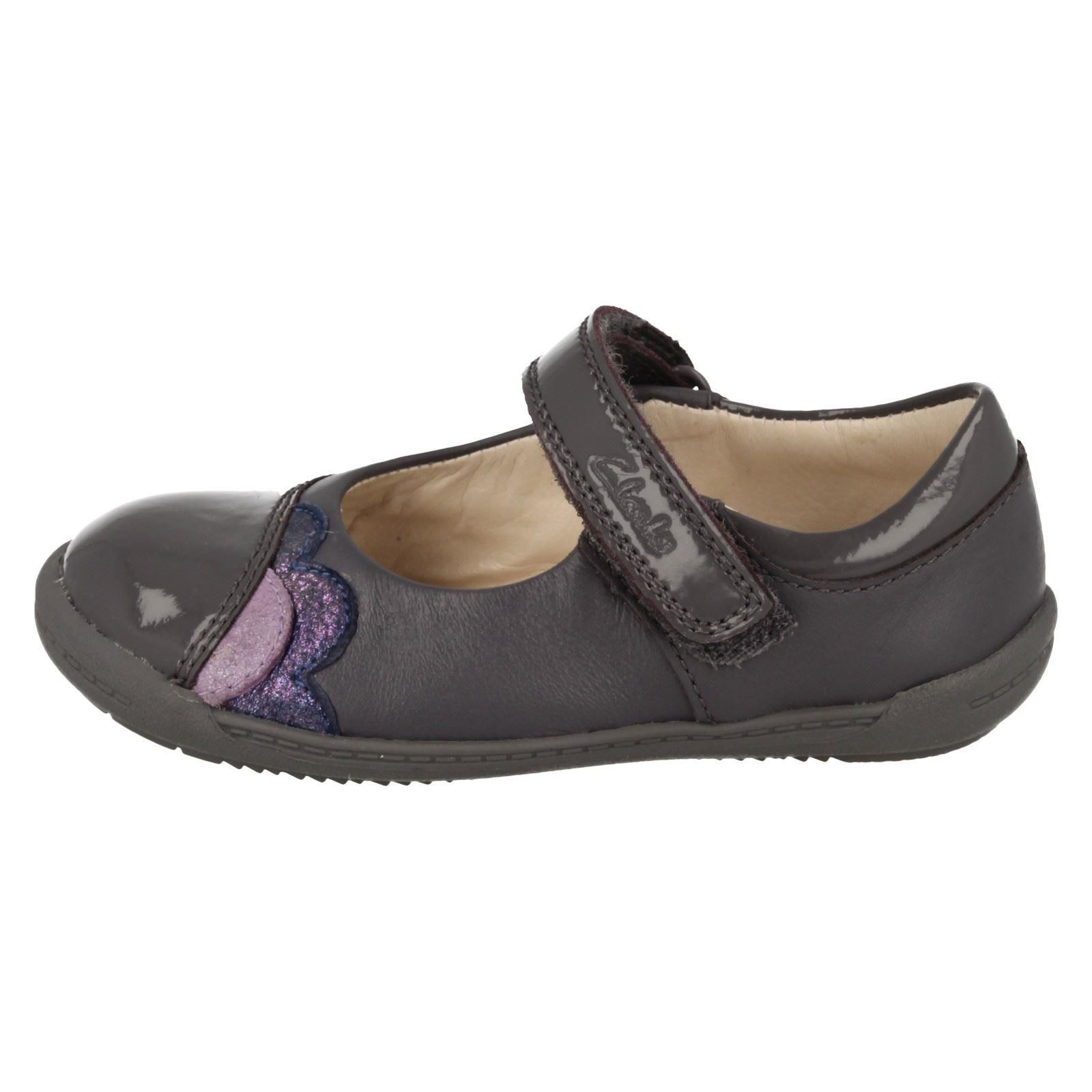 Anthracite Hook Clarks gris con Girls First cuero Caz de suavidad Shoes Infant Casual Loop q7FxB