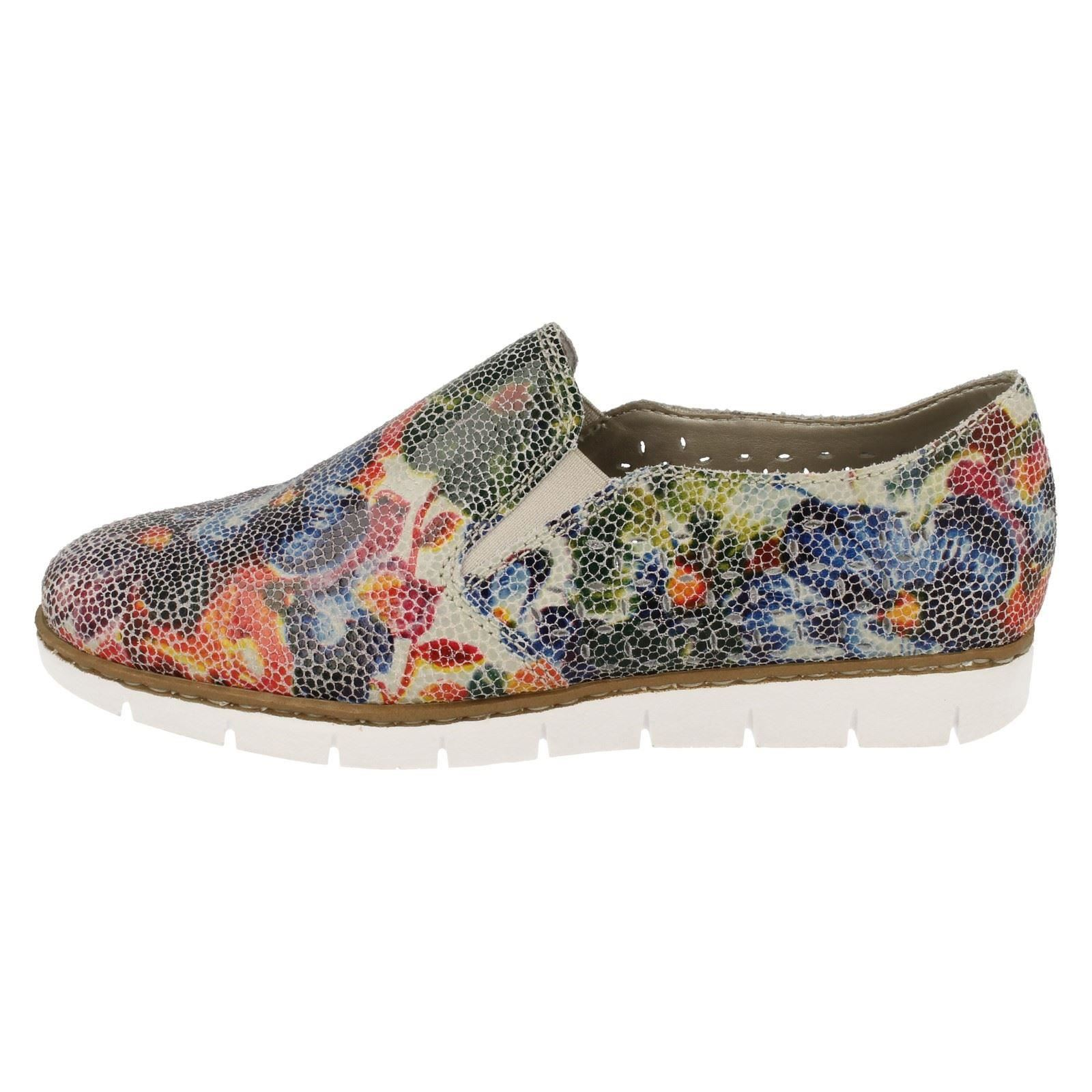 pour femme Casual Chaussures glissière à Rieker QrBWodECxe