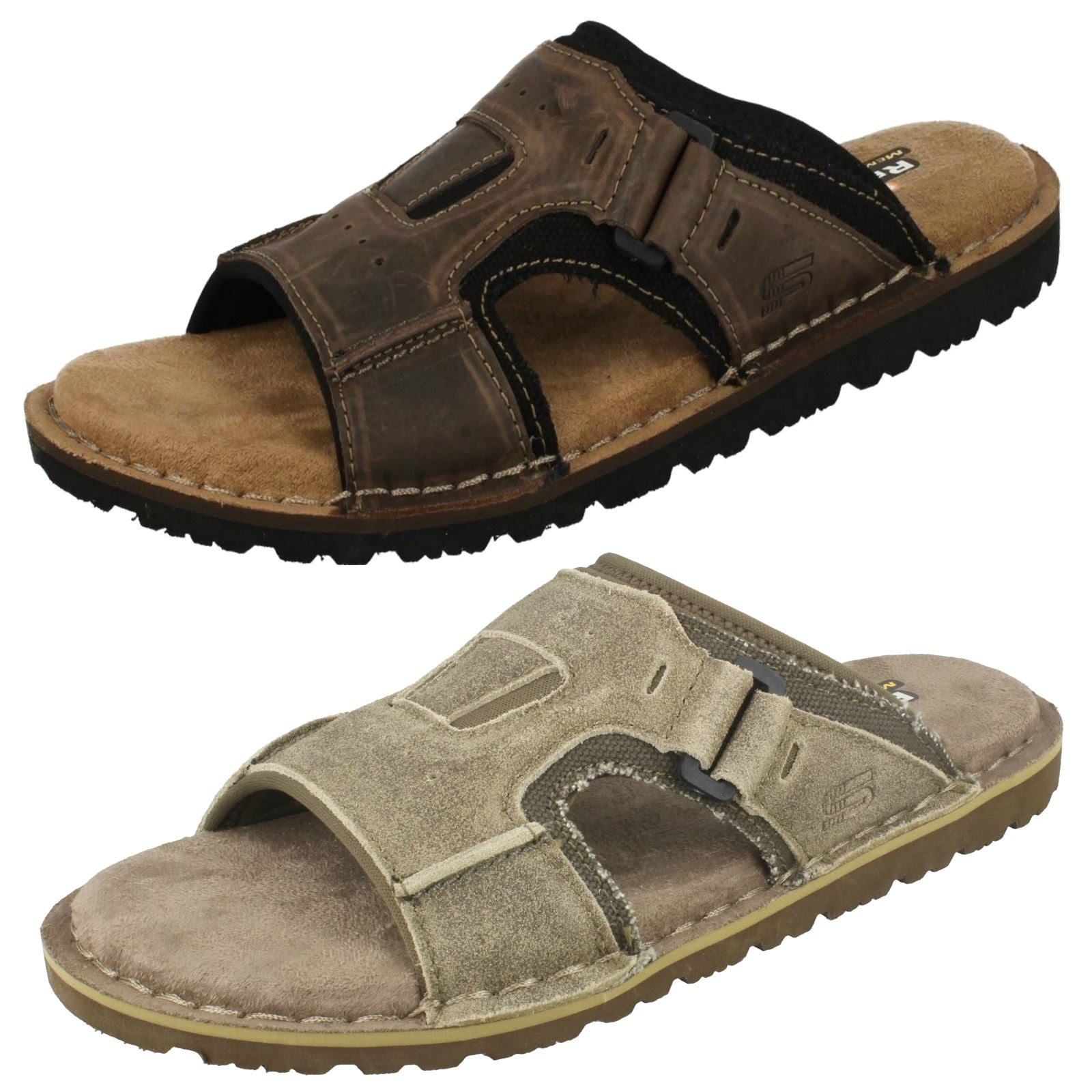 c5a6bb909102 Details about Mens Skechers Memory Foam Sandals - Golson 64148