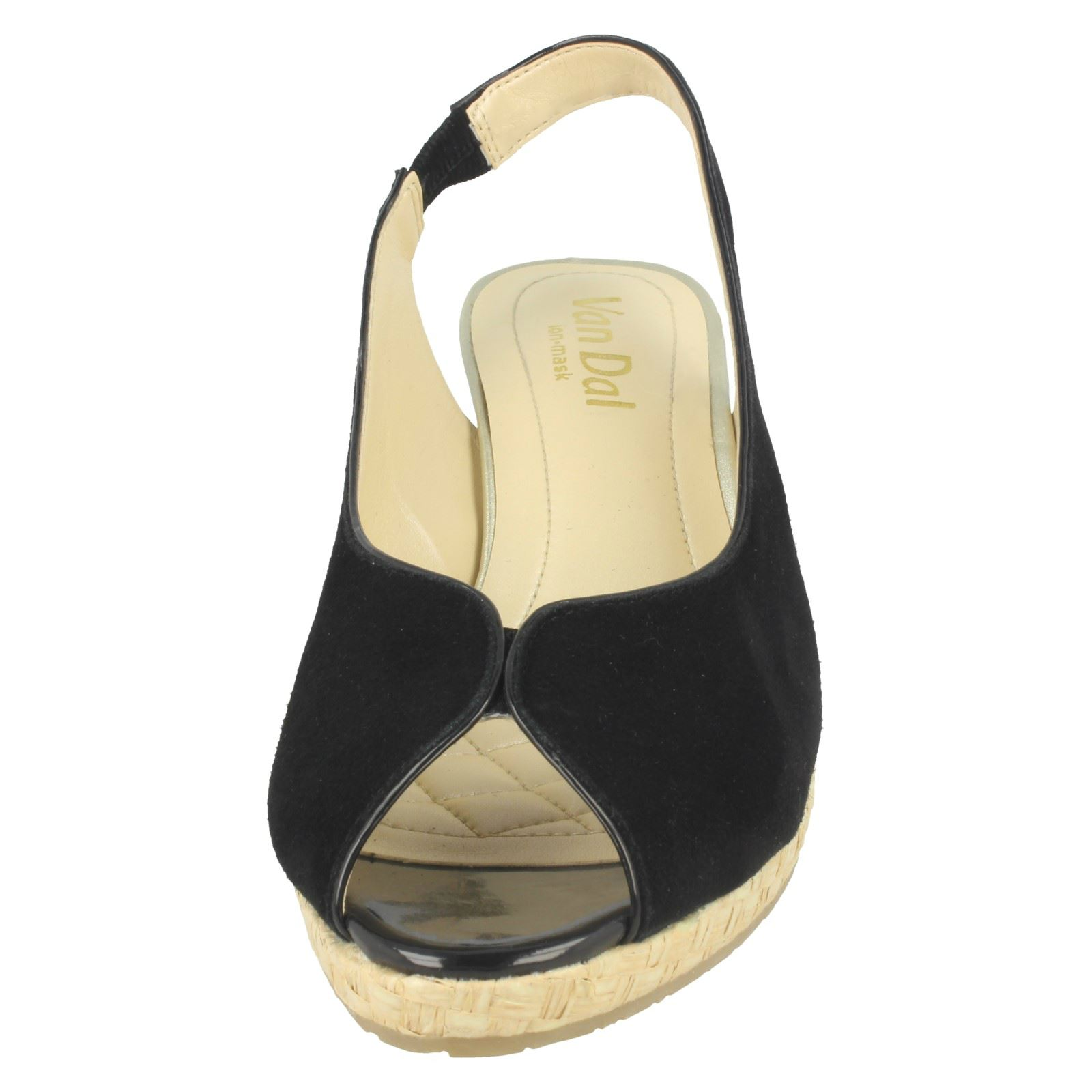 Ladies-Van-Dal-Leather-Wedge-Sandal-With-Woven-Detail-Avalon thumbnail 5