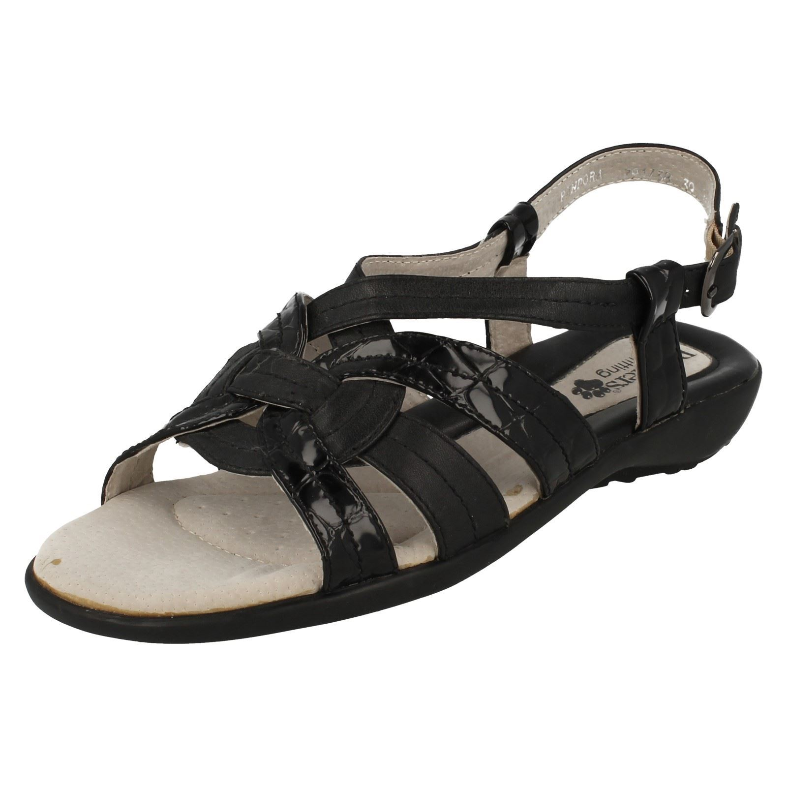 9571778df37e Details about Ladies Padders Wide Fitting Summer Sandals - Pandora