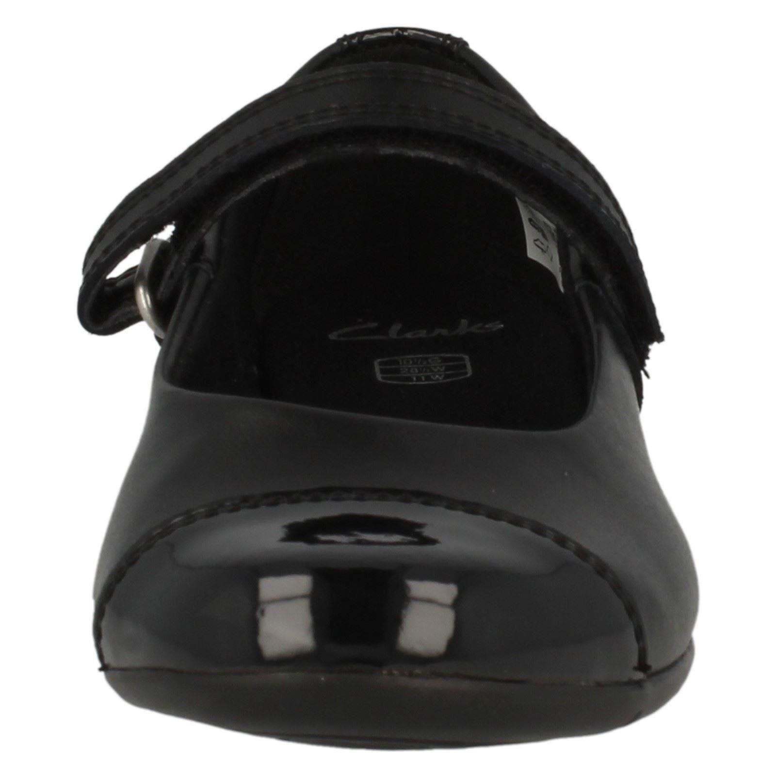Girls Clarks School Shoes Black Leather Dance Step