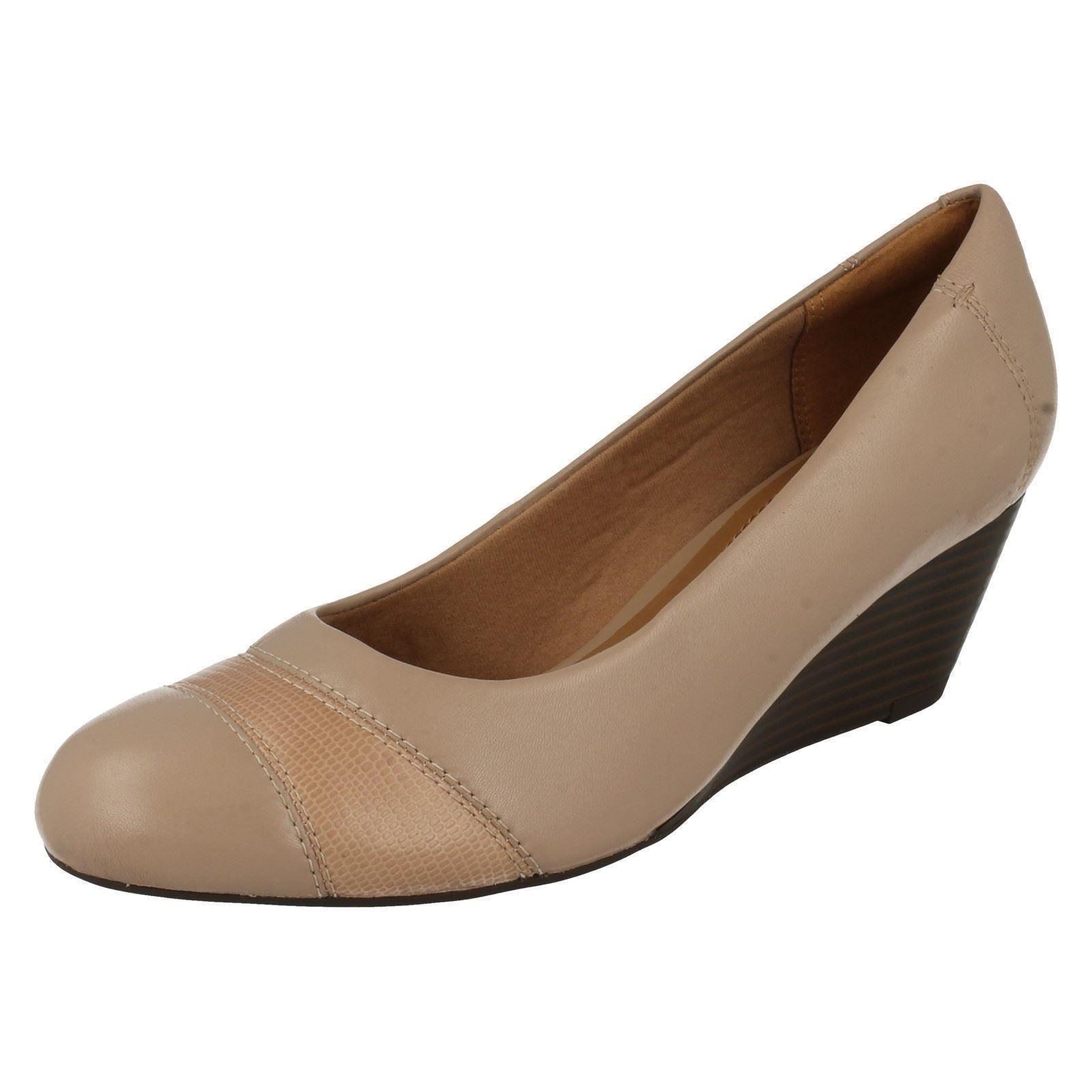 Femmes Femmes Femmes Clarks Wedge Shoes Brielle Tacha 6674f3