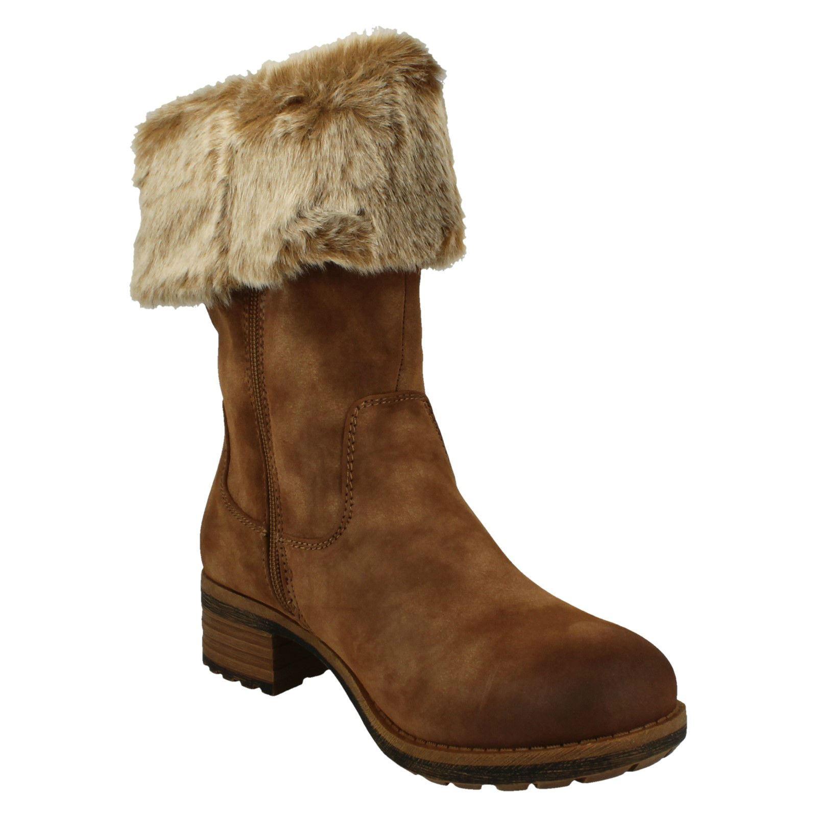 botas 96854 Para Mujer Rieker-Zip Up 96854 botas e09298