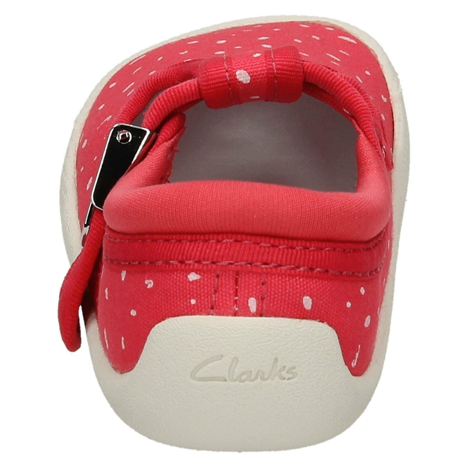 'Infant Girls Clarks' Rounded Toe T-Bar Doodles - Choc Cake