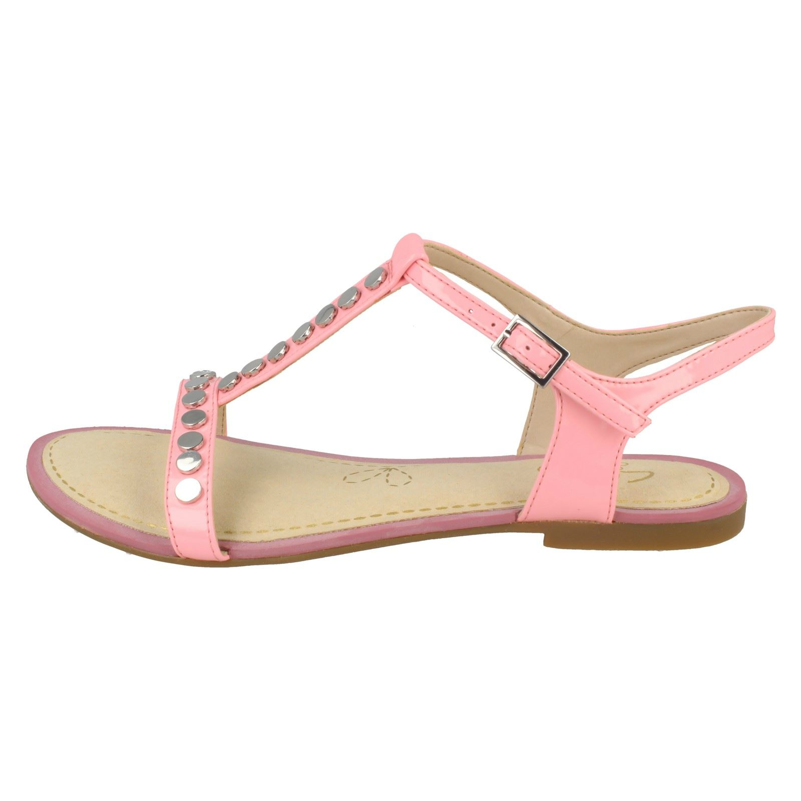 0ed1f97f8 Ladies Clarks Flat Studded Buckled Summer Sandals Sail Festival 3.5 UK Pink  D. About this product. Picture 1 of 10  Picture 2 of 10  Picture 3 of 10 ...