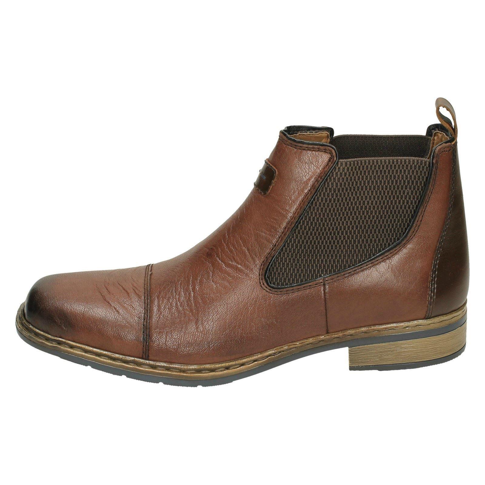 30863 Marrone Mens Boots Chelsea Rieker qO7aTtS