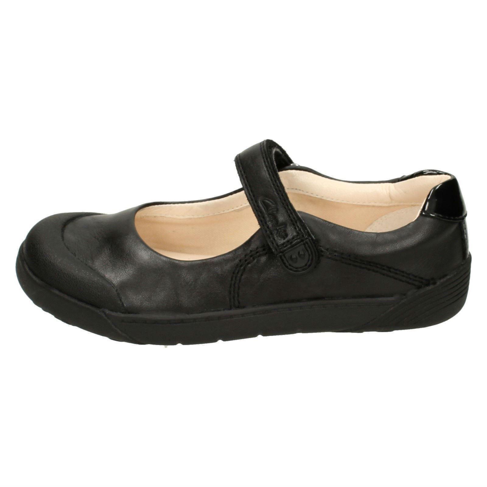 para de Mary Zapatos Jane niños Bud pequeños escolares cuero bebés Clarks Folk Black Lil ZqwZaCYx5