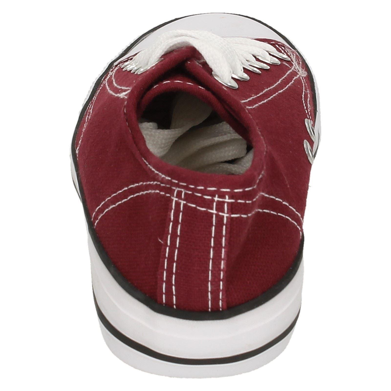 Mujer Spot On Lienzo Encaje Zapatos