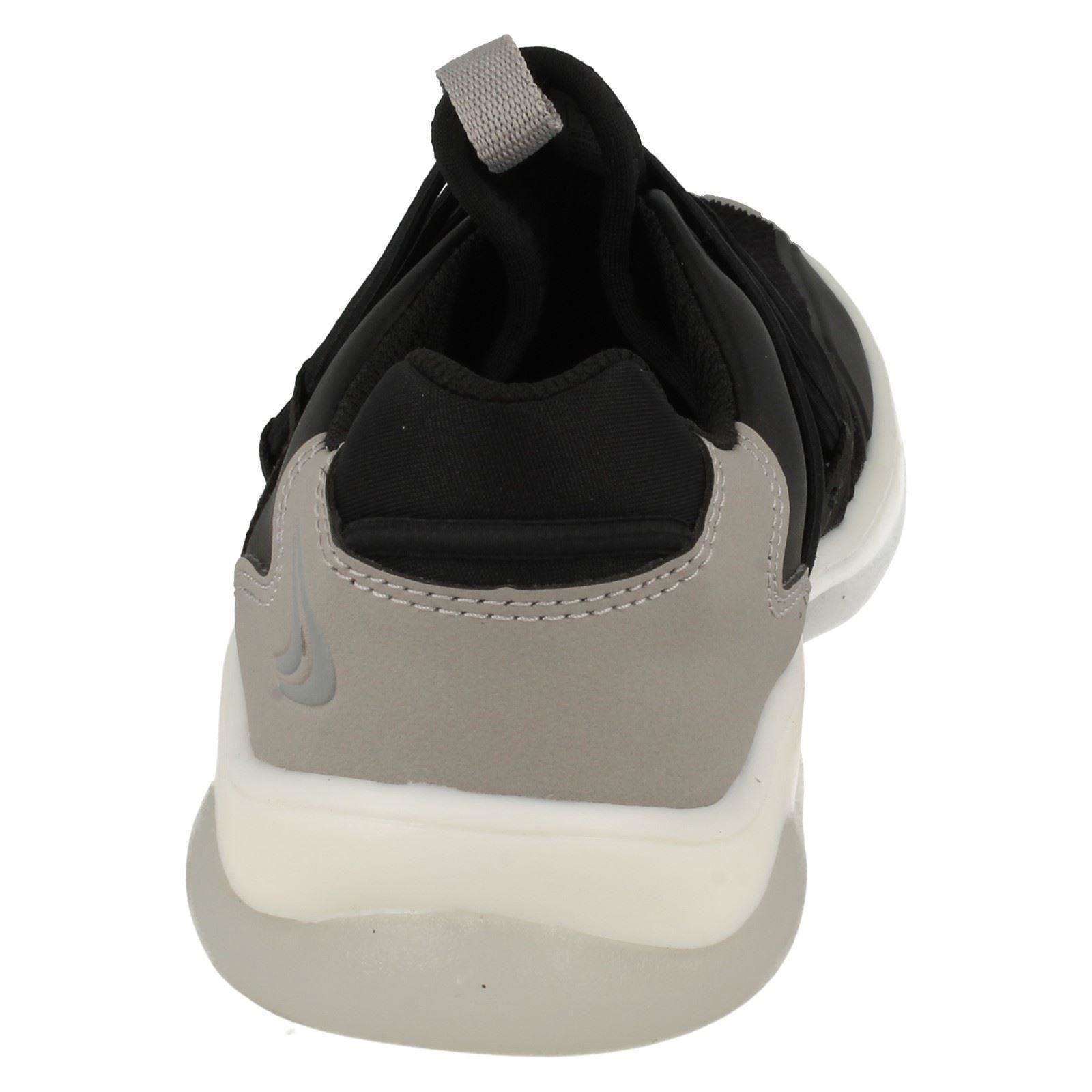 Boys Clarks Fashionable Slip On Trainers Buzzed Fire