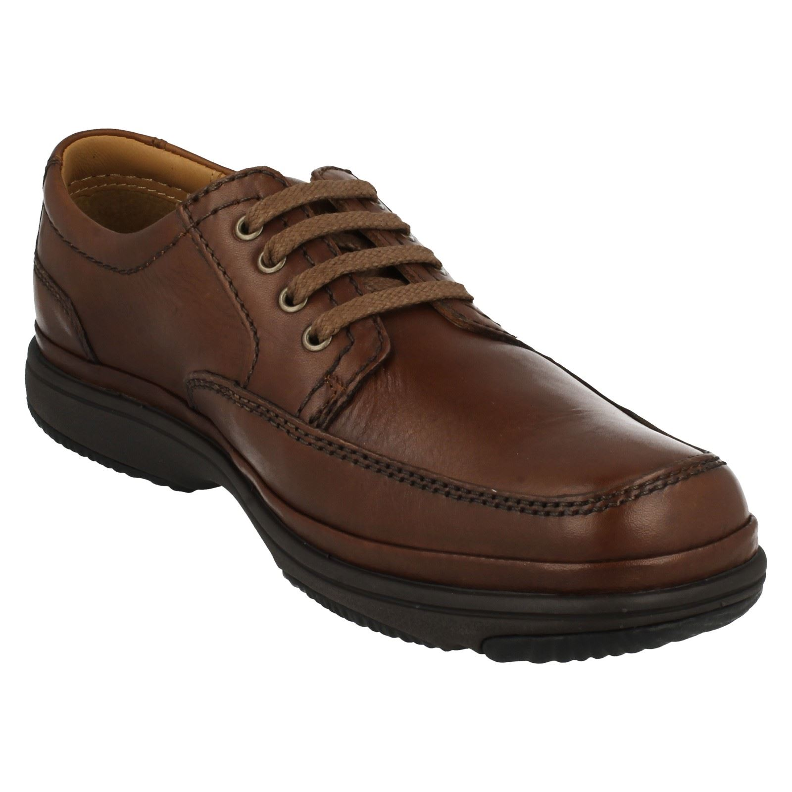 Herren Clarks Flexlight Wide Fitting Fitting Fitting Lace Up Schuhe, Swift Mile 8ccb58