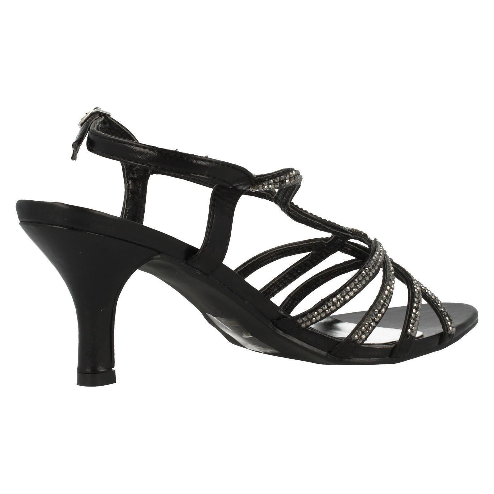 Anne-Michelle-Ladies-Diamante-Detail-Peep-Toe-Heels thumbnail 3