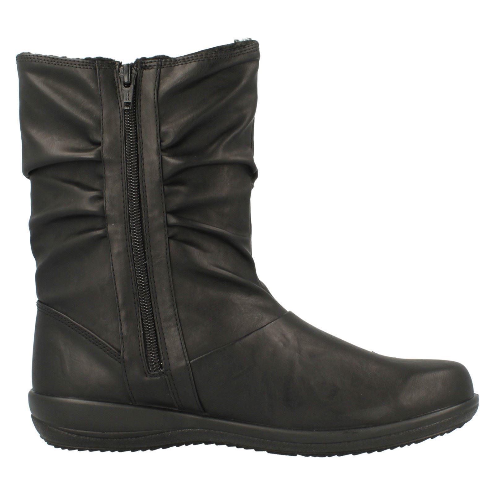 Zapatos especiales con descuento mujer Padders corte ancho Botas De Media Caña índigo