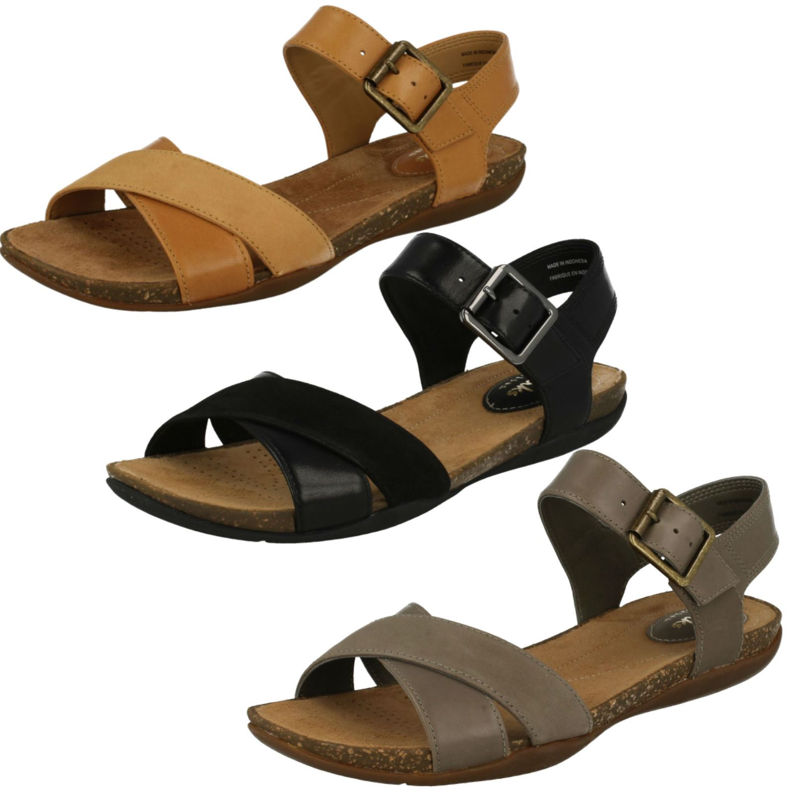 f1857f98fd6 Details about Ladies Clarks Autumn Air Casual Summer Sandals with Buckle
