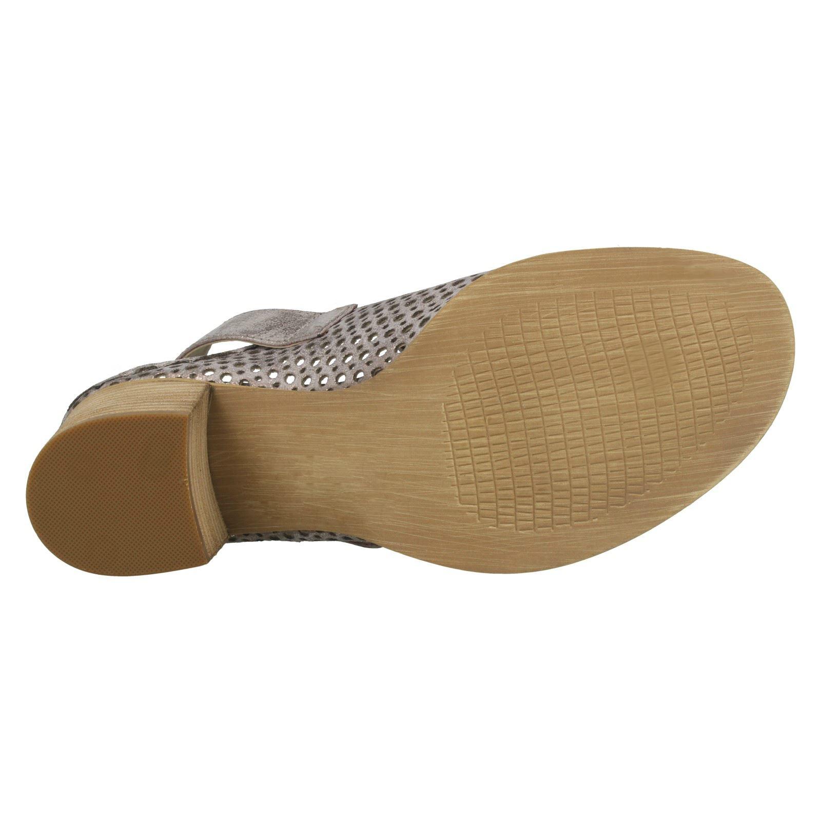 Sandalias de verano señoras de la Sabana Mediados Talón