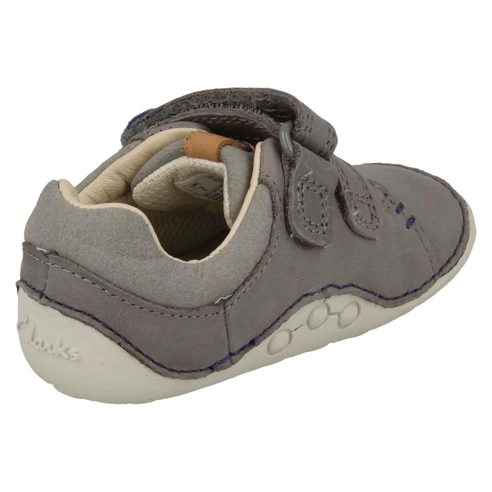 Boys Clarks Hook and Loop Fastening First Shoes Tiny Toby